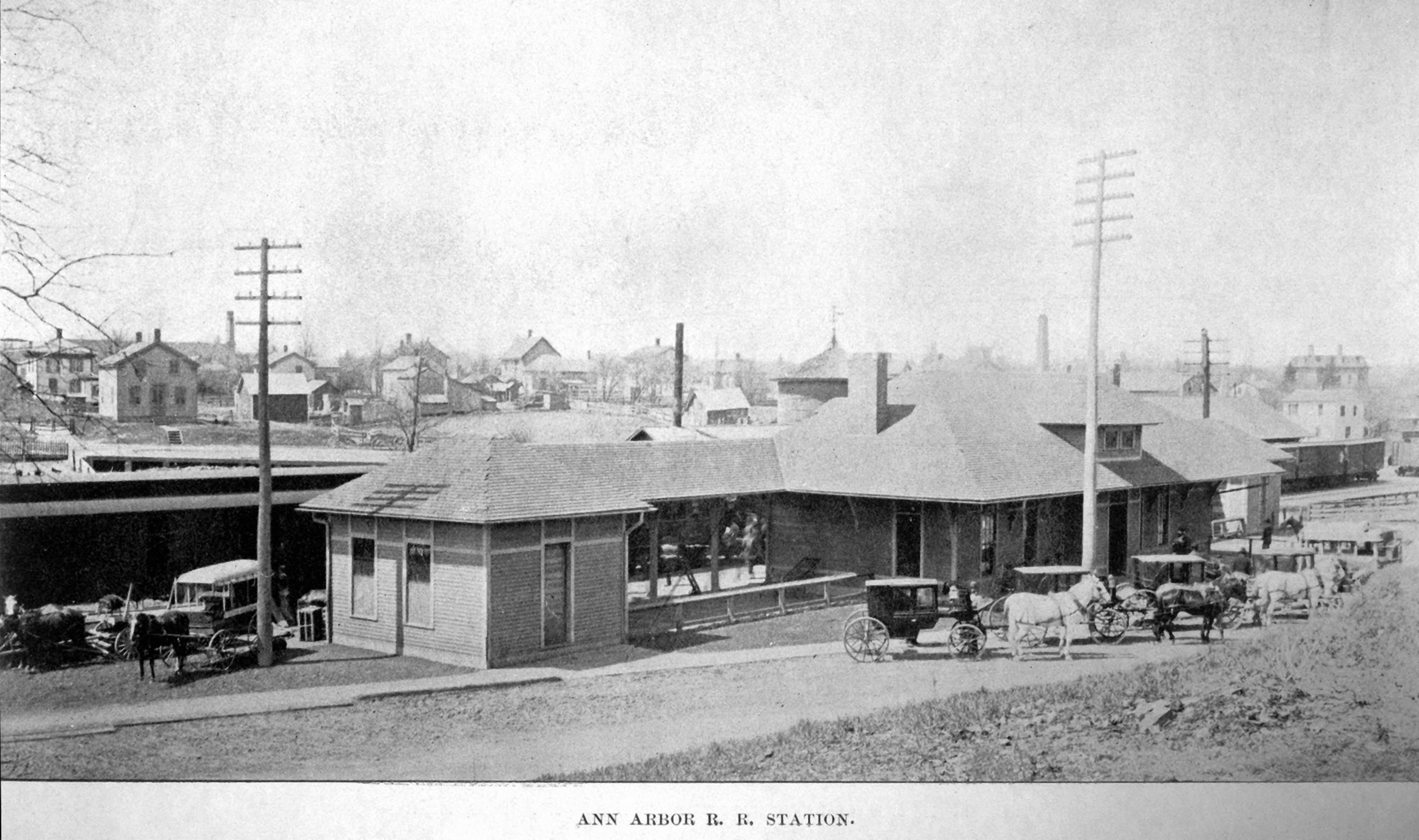 Ann Arbor Railroad Station, 1889 image