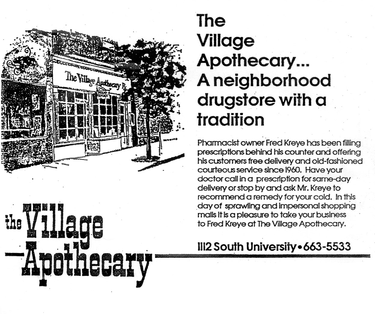 The Village Apothecary advertisement image