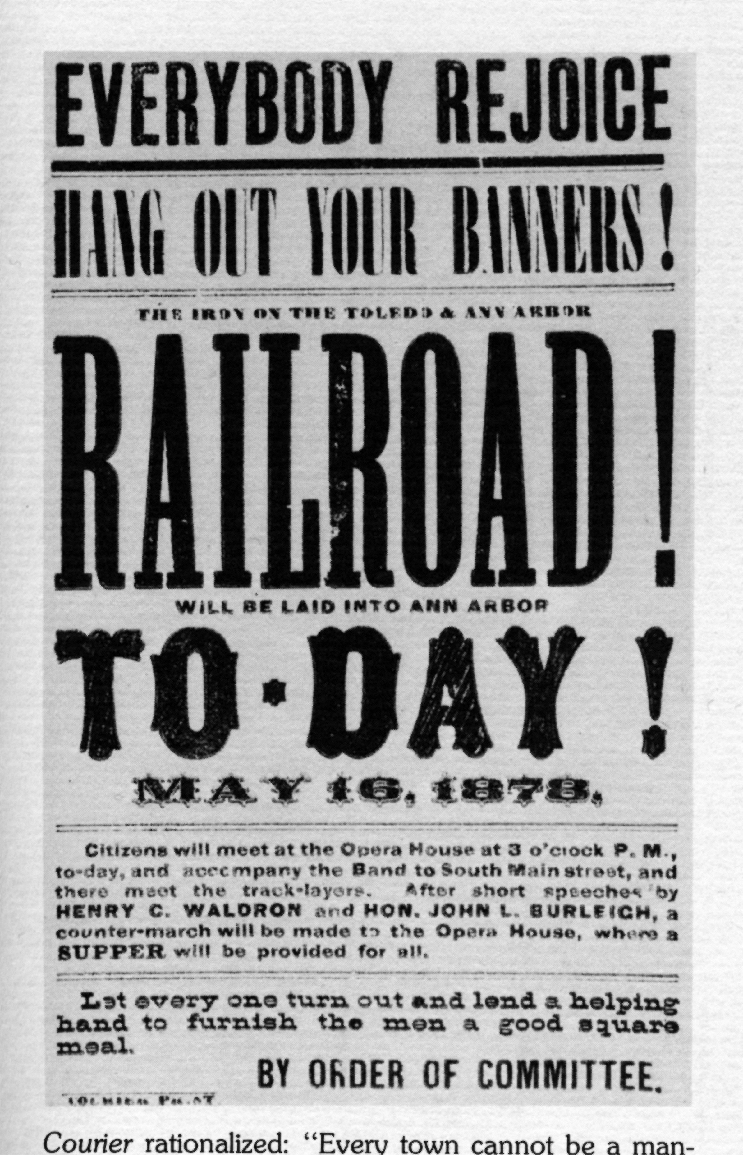 Railroad broadside image