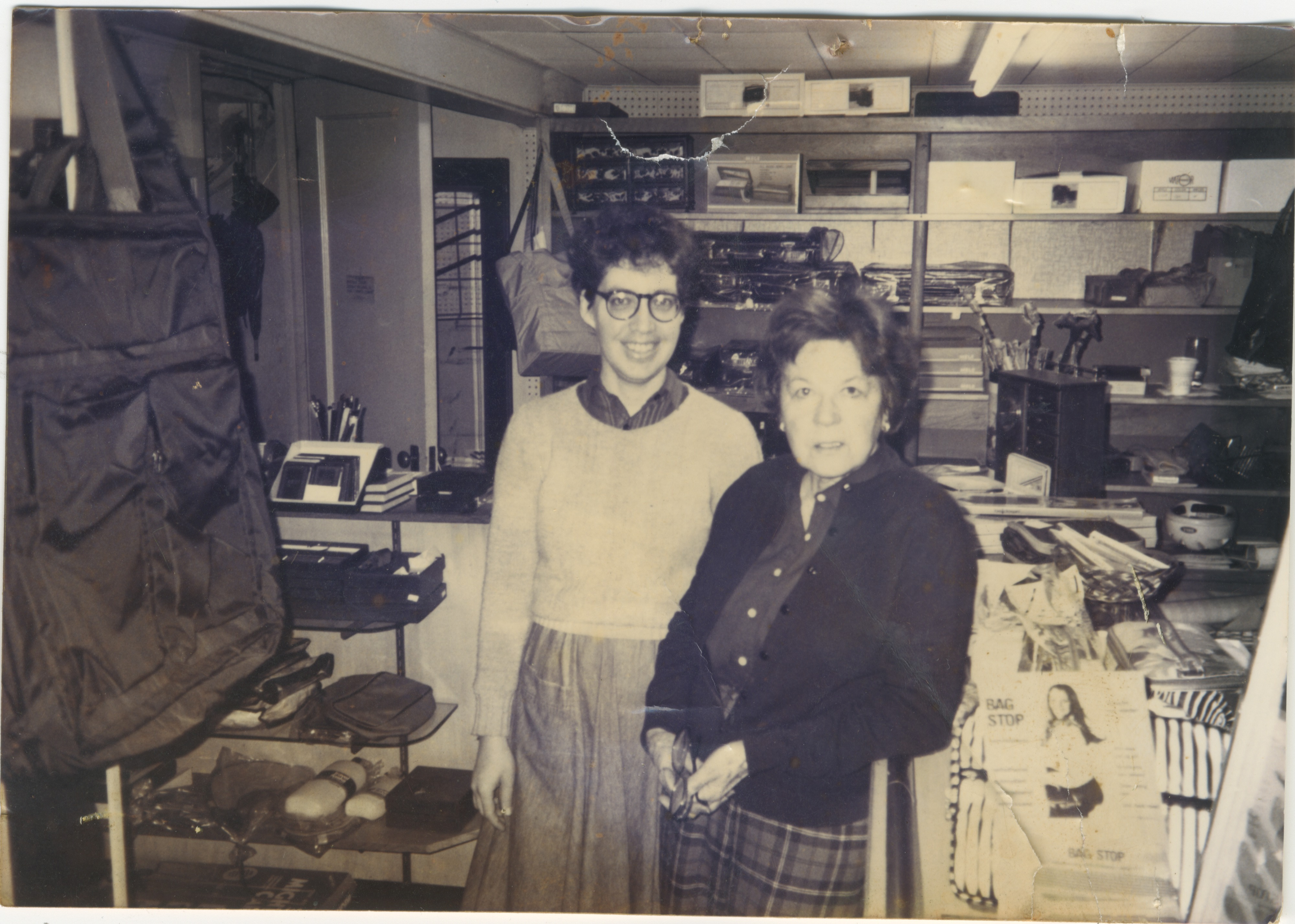 Maison Edwards Owner Augusta Edwards and Friend Janet Howard at Shop in Nickels Arcade, 1989 image
