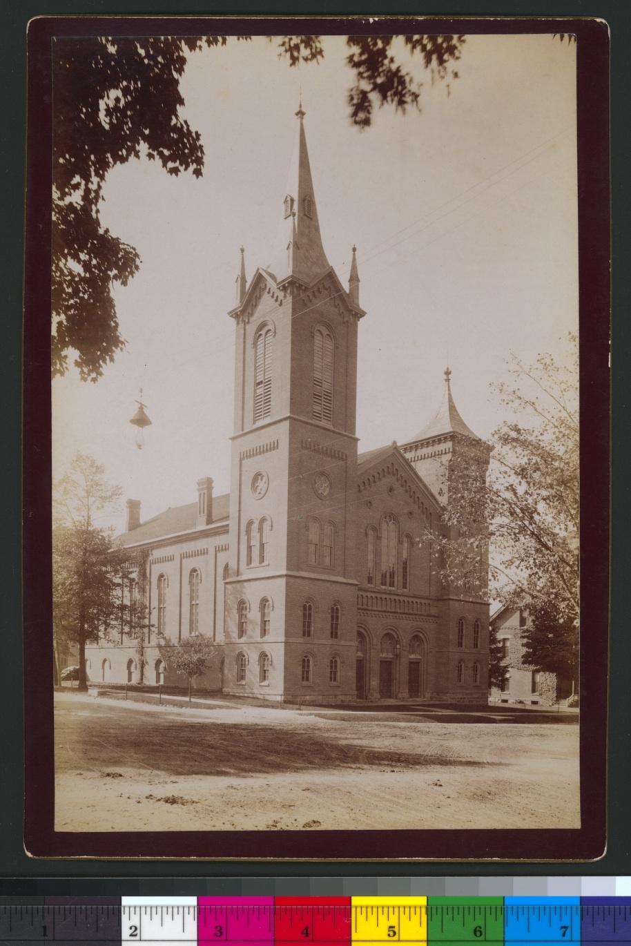 Preybyterian [sic] Church -- Huron & Division Sts. 1865 (ca.) (BL000923) image