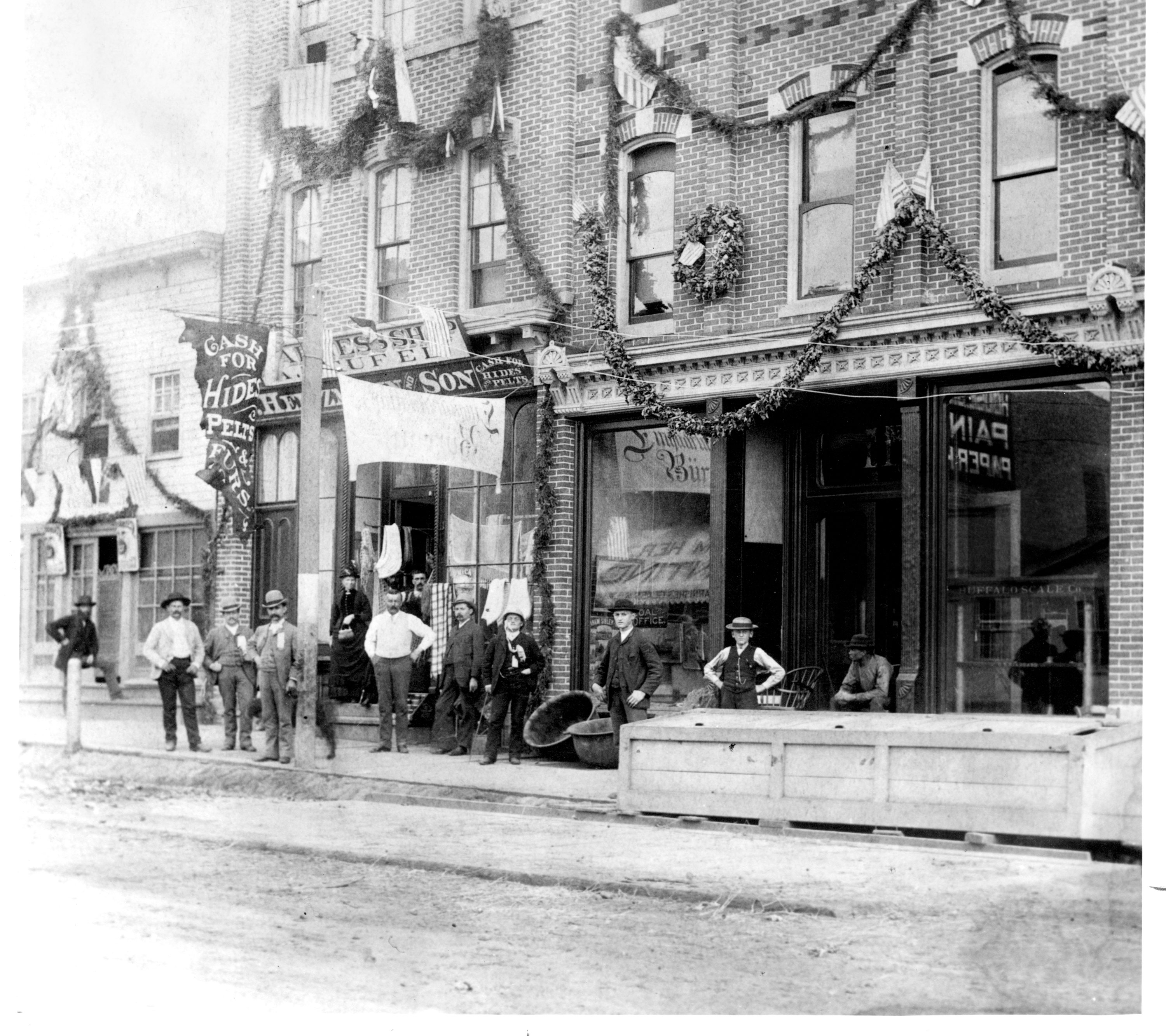 German-Owned Stores, West Washington Street, ca. 1890 image