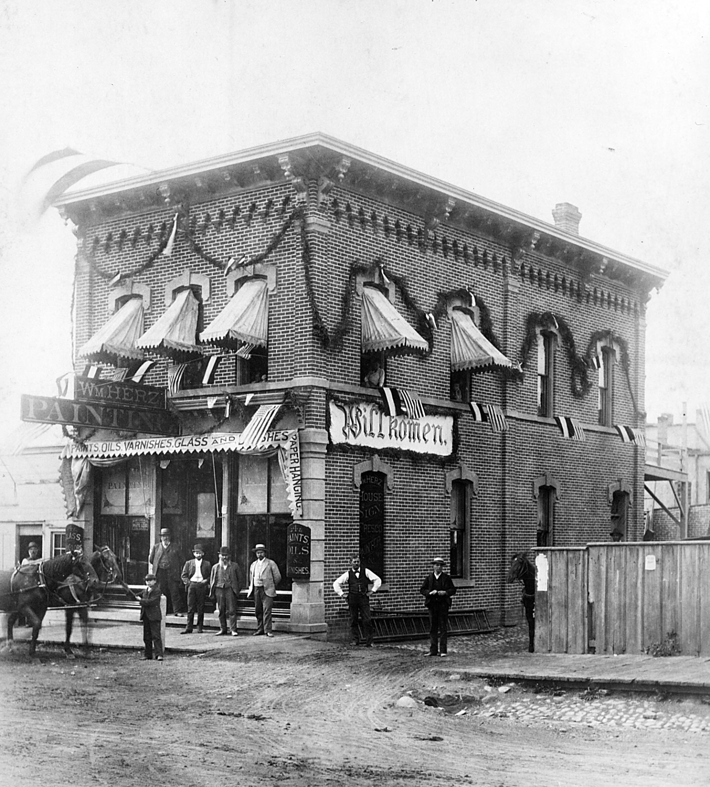 112 West Washington street, 1872 image