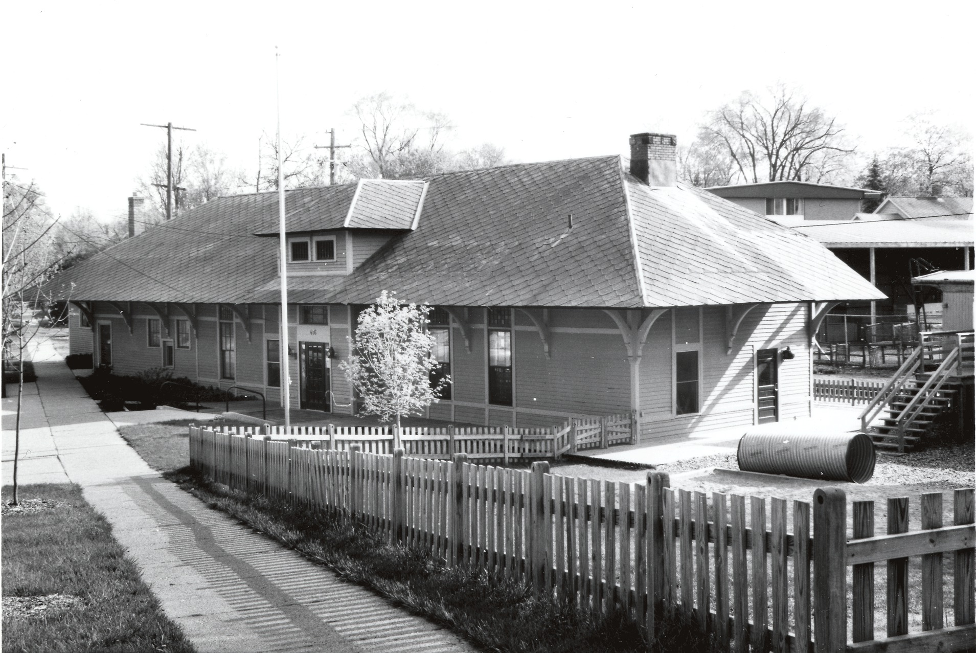 Toledo, Ann Arbor and Northern Michigan Railway Depot, 1889 image