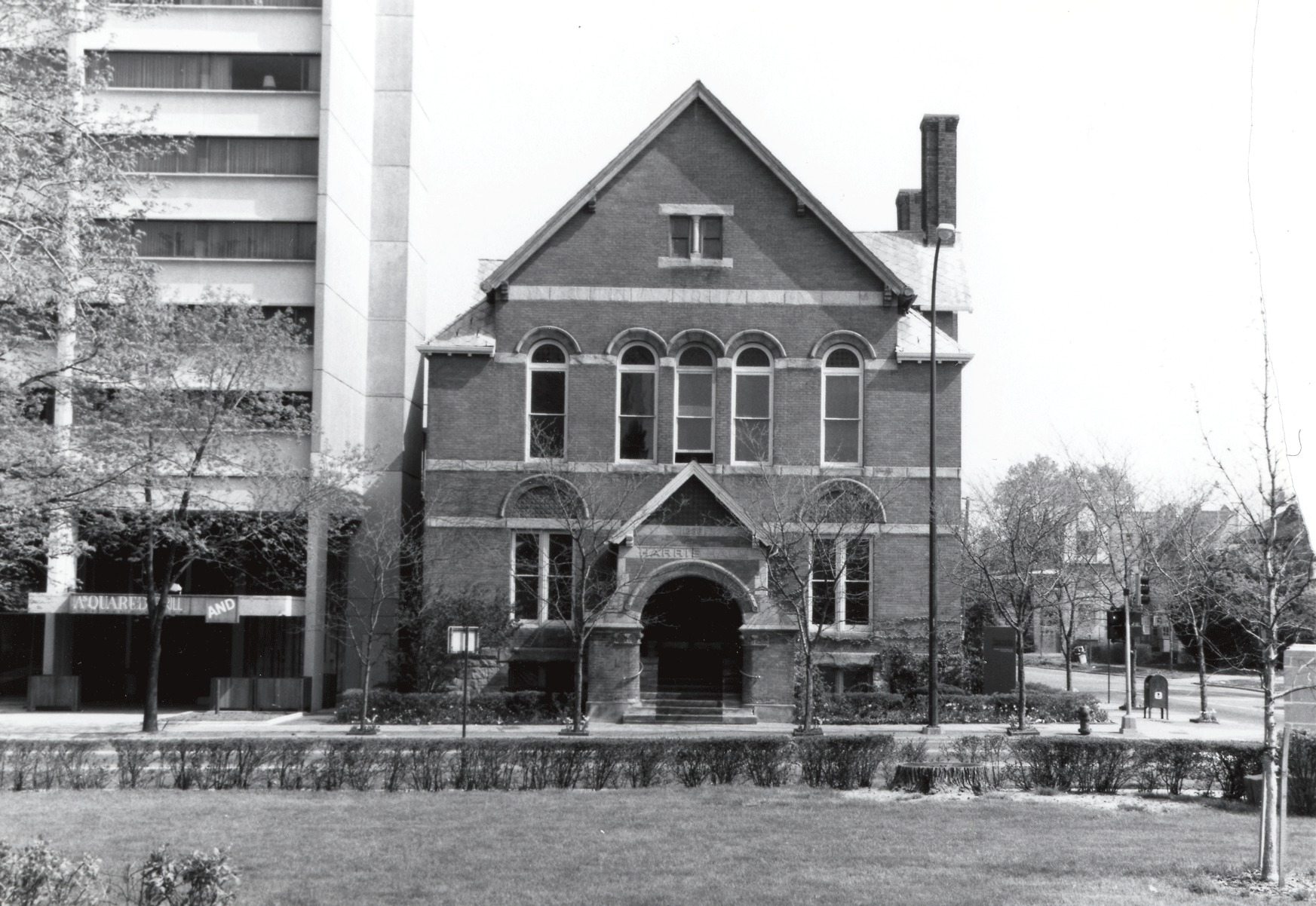 Harris Hall, 1886 image