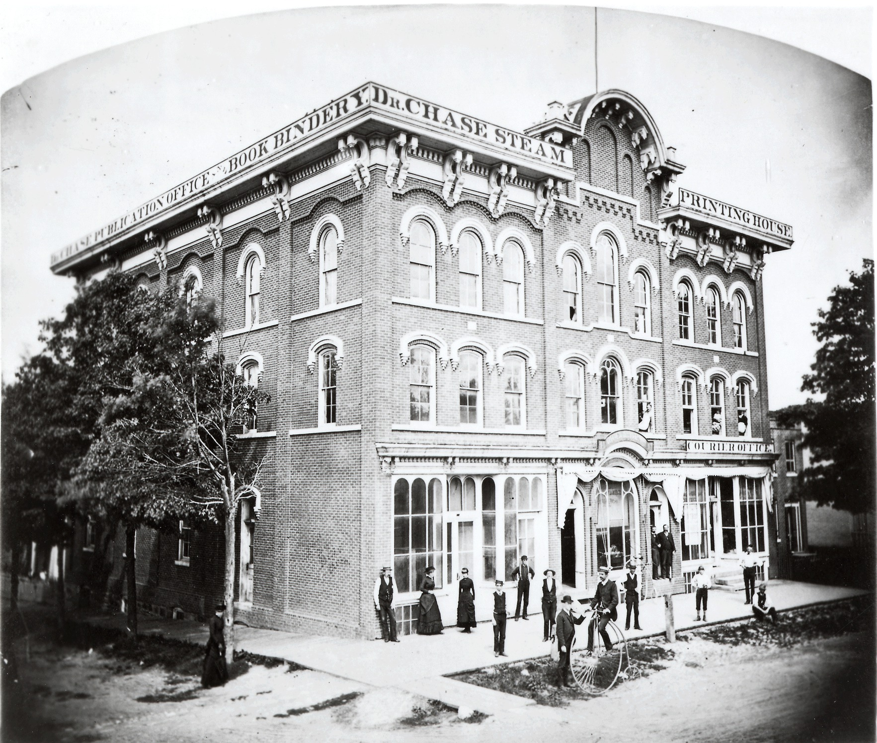 Dr. Chase's Steam Printing House, 1864/1868 image