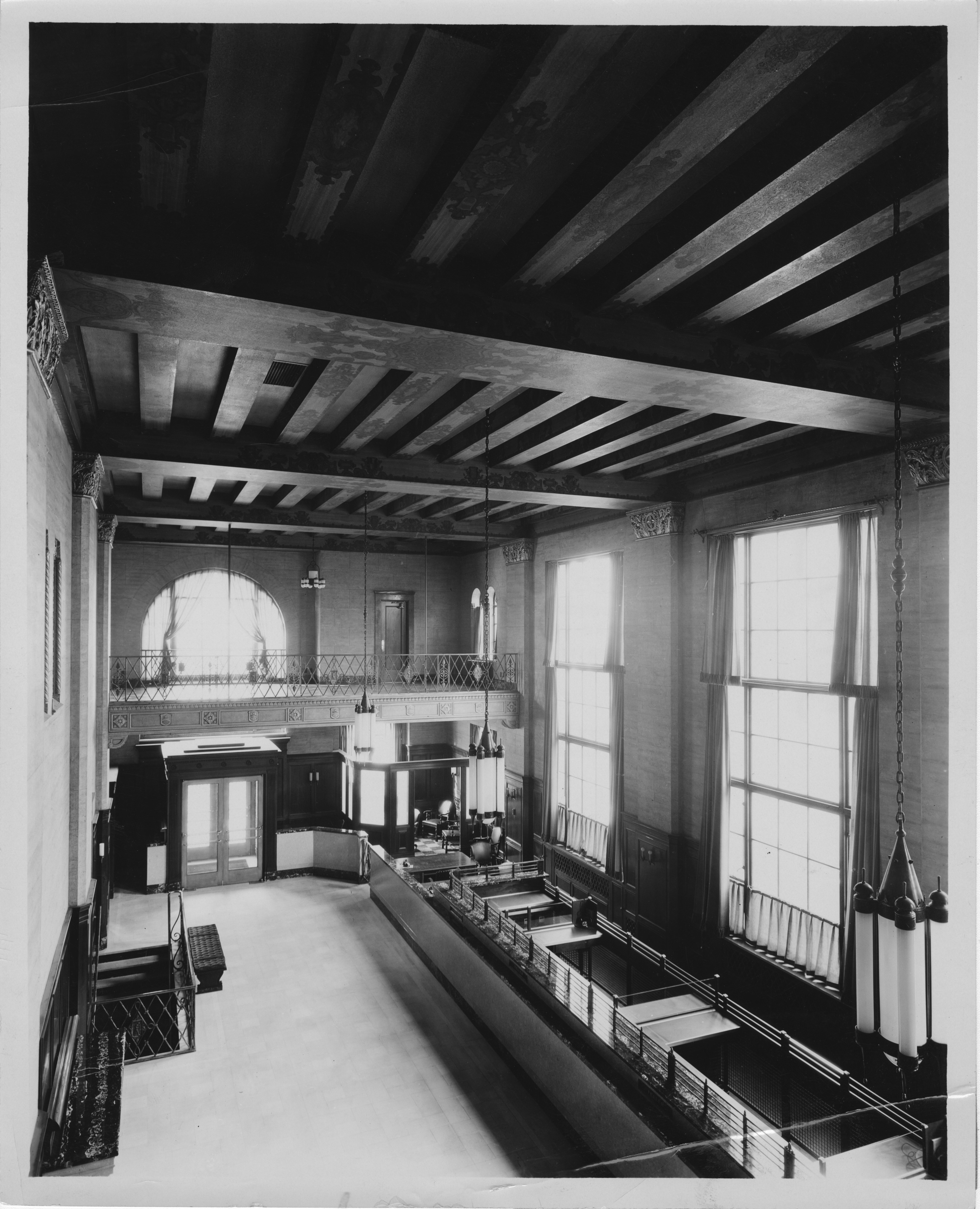 Interior of First National Bank of Ann Arbor, circa 1930 image