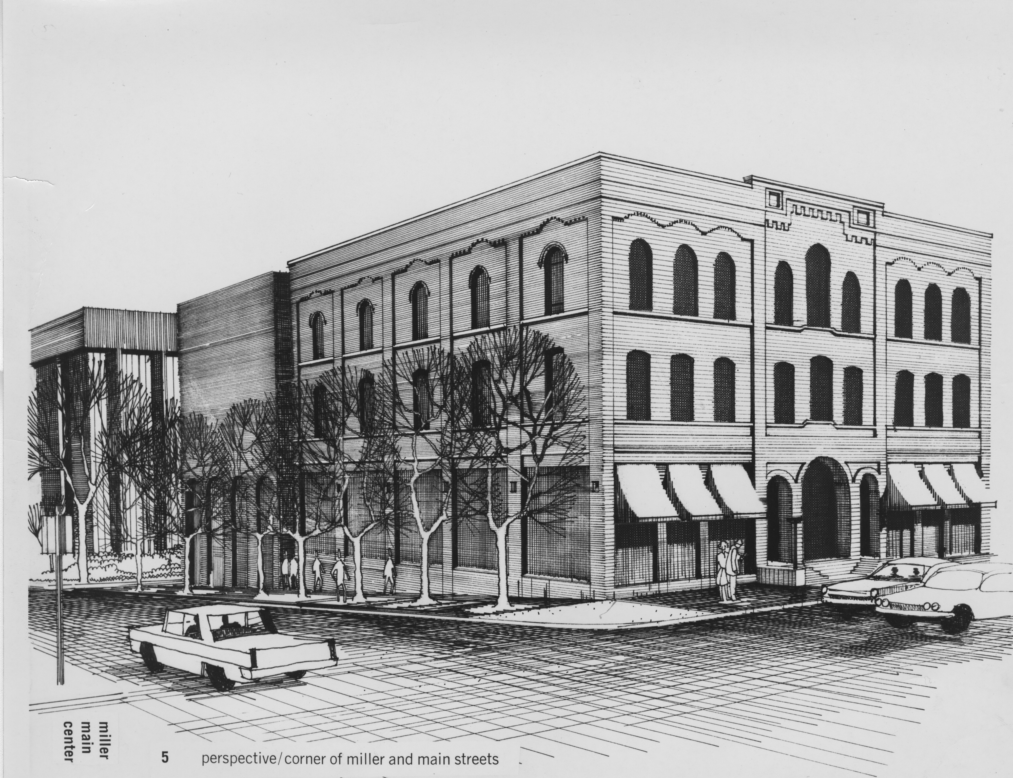 Rendering of Miller Main Center, 1969 image