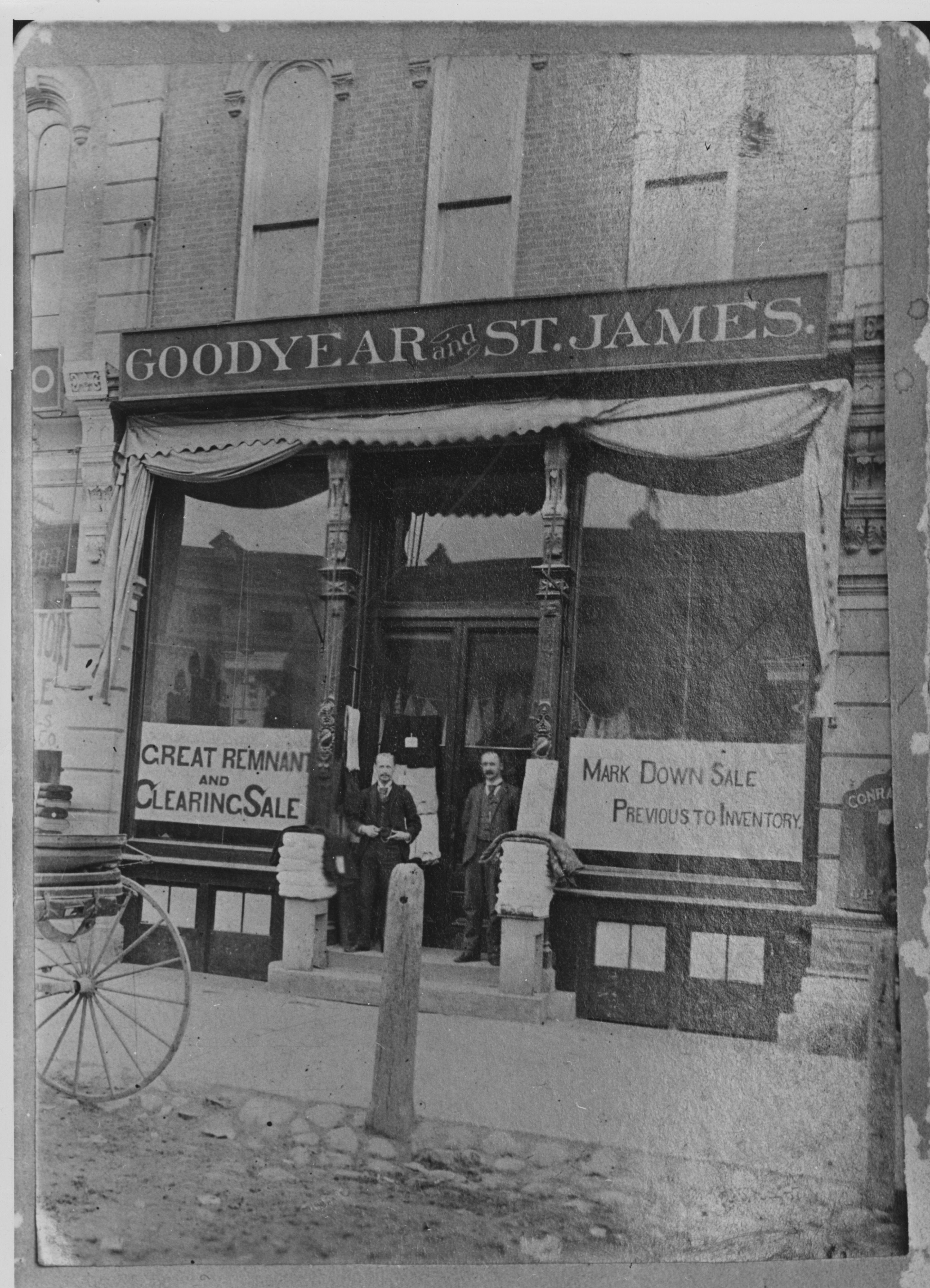 Photo copy of Goodyear & St. James, original building, undated image