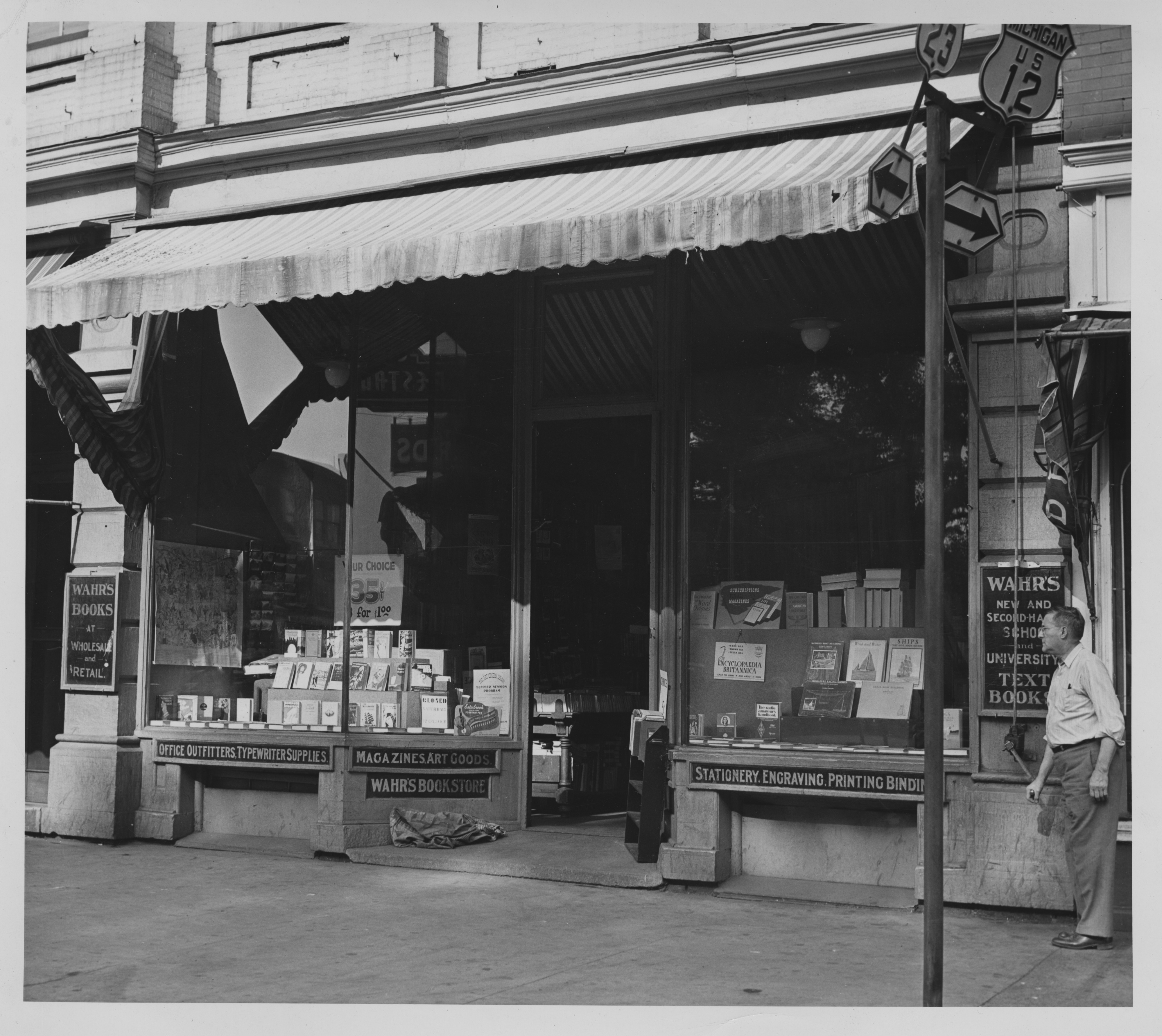 Wahr's Book Store, 1946 image