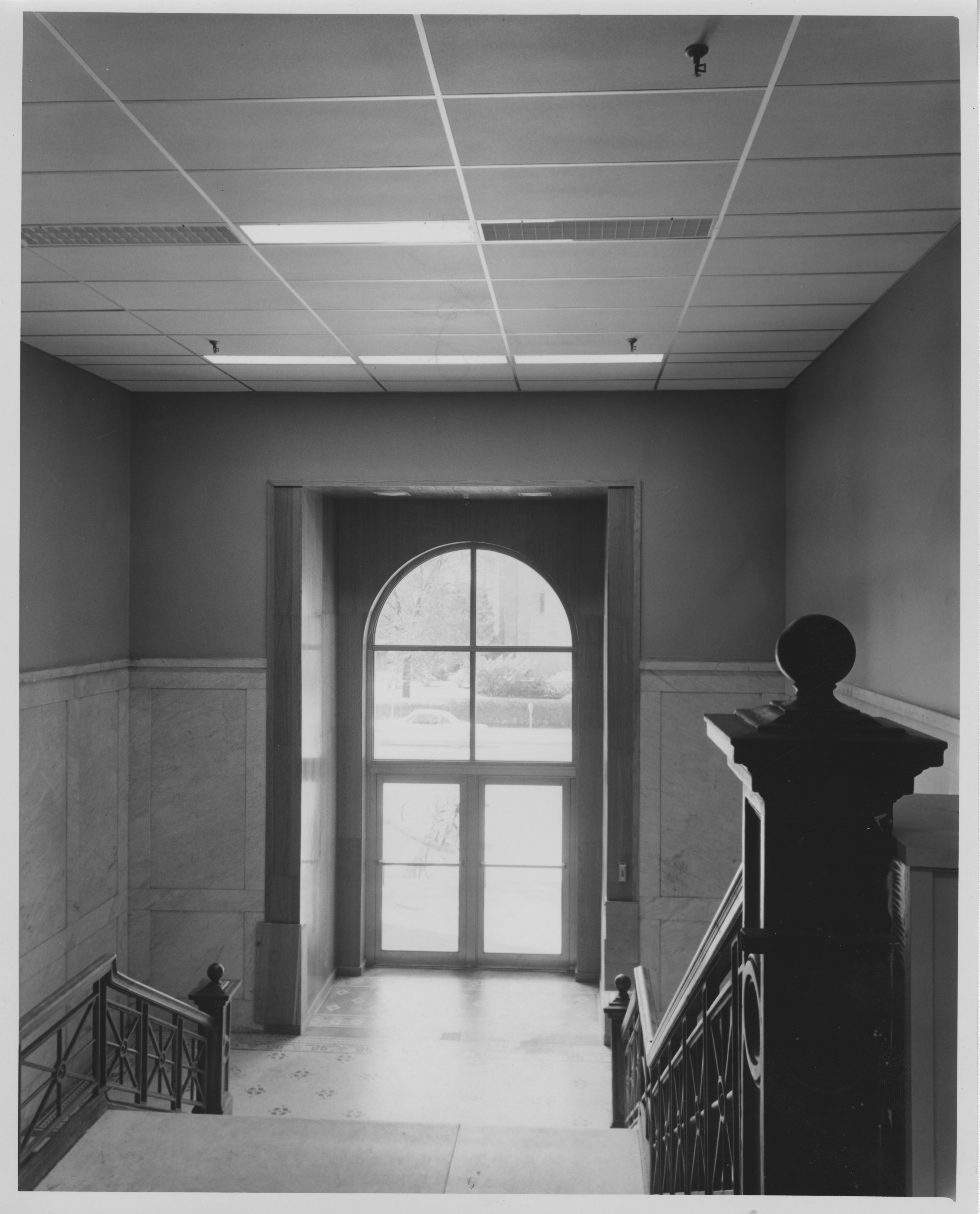 Interior of old Ann Arbor High School, new Frieze Building, October 1957 image