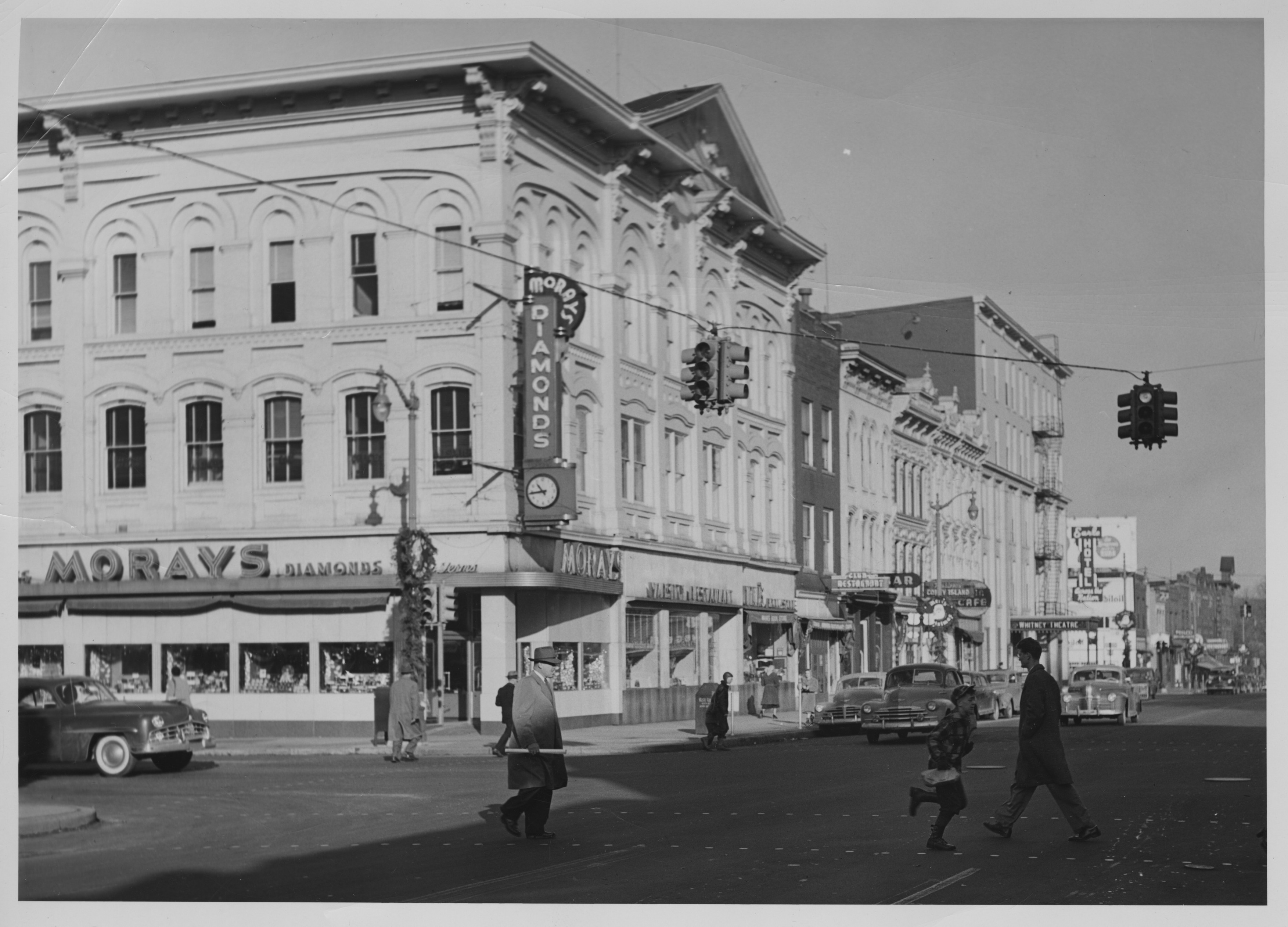 Northwest corner Main and Huron Streets, 1950 image