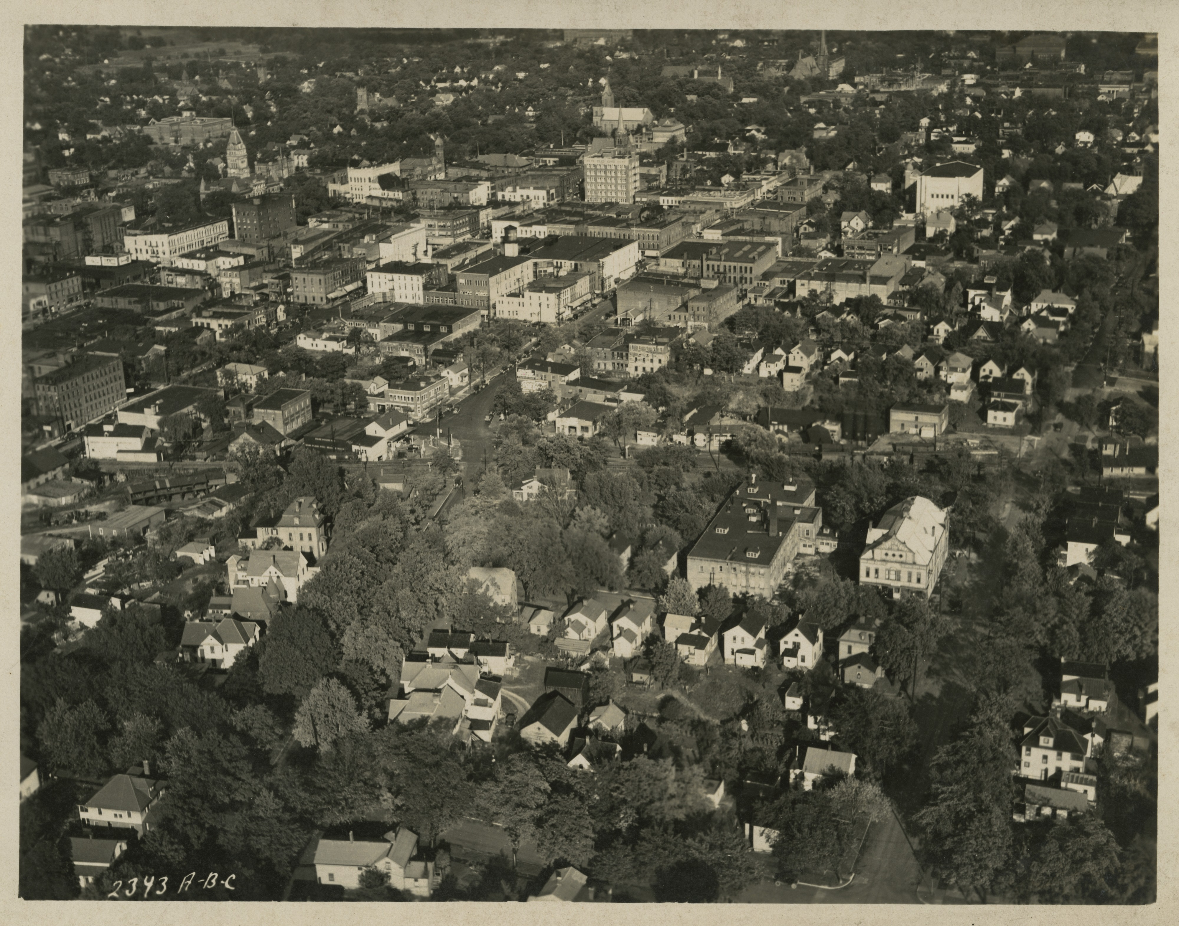 Aerial view of Ann Arbor, undated image