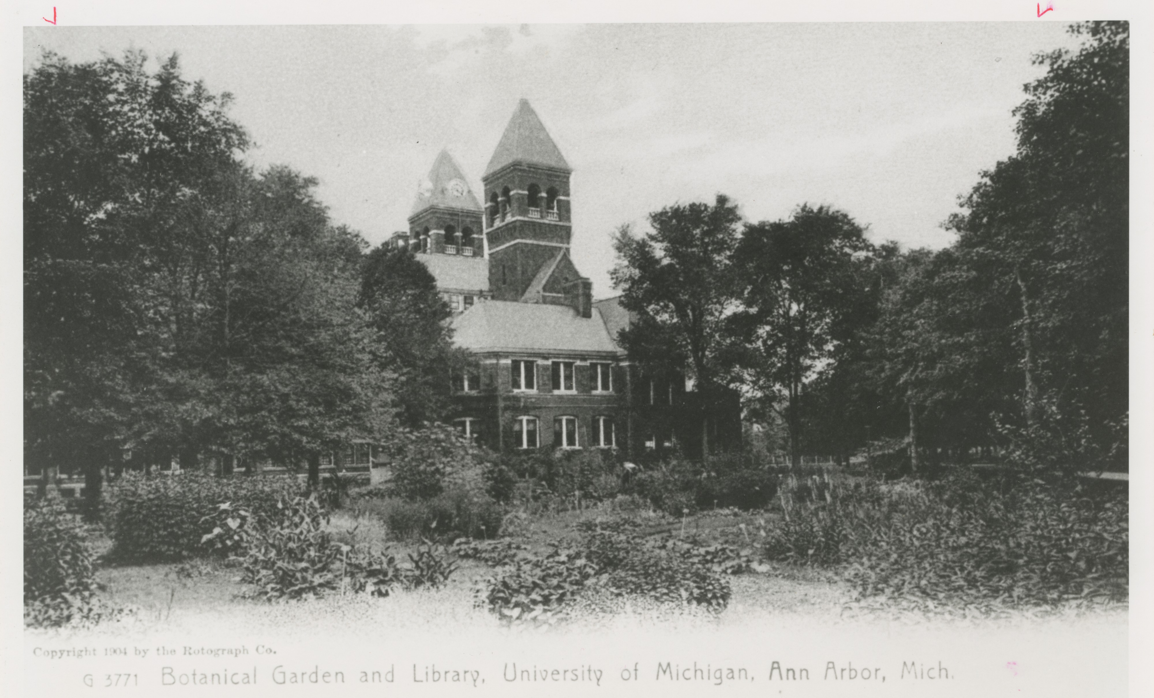 University Of Michigan Botanical Garden And Library 1904 Ann Arbor District Library