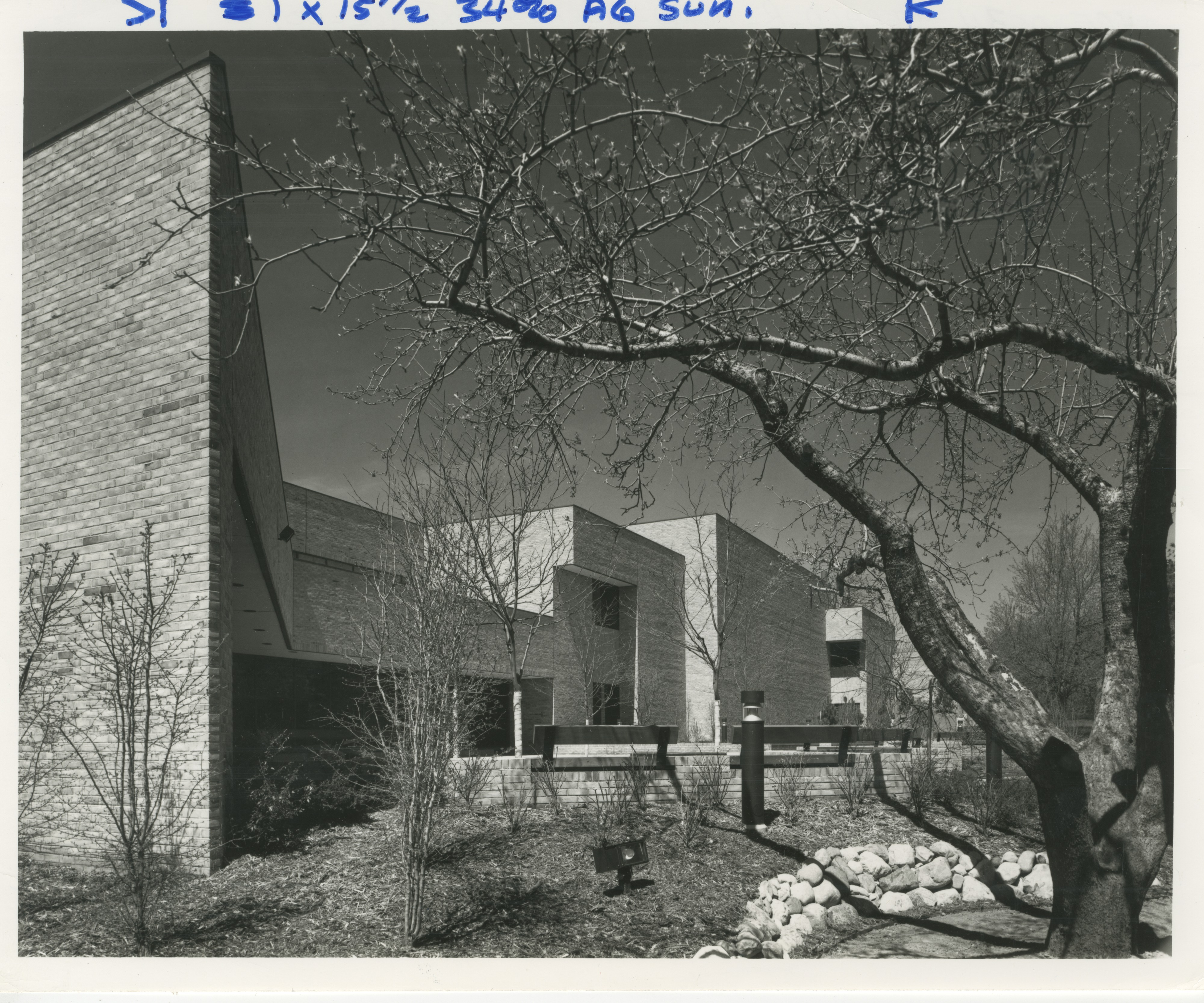 University of Michigan Gerald R. Ford Presidential Library Exterior, Undated image