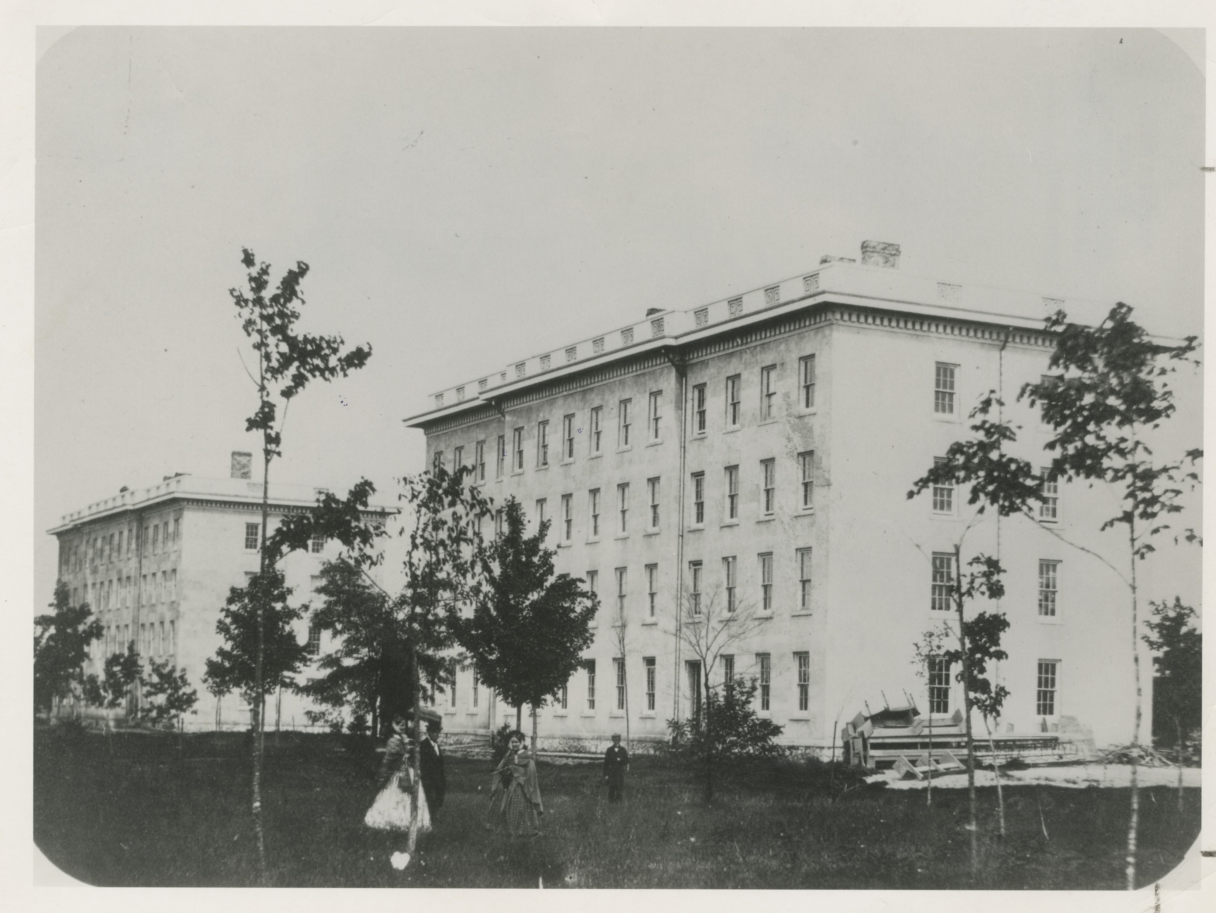University Building, Later Mason Hall, circa 1850 image