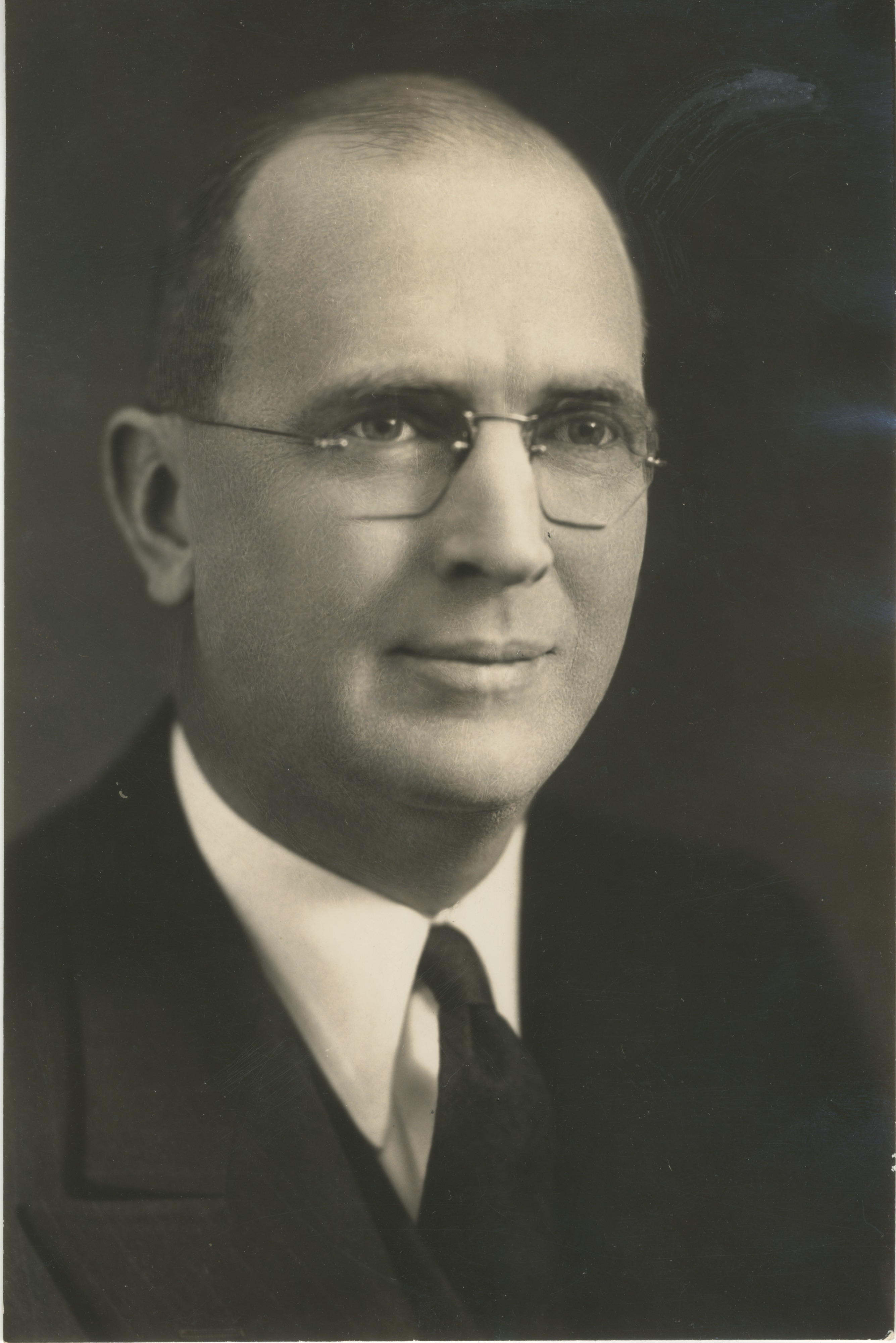 University of Michigan Prof. Lewis G. Vandervelde, Founder of the Michigan Historical Collection, November 1939 image