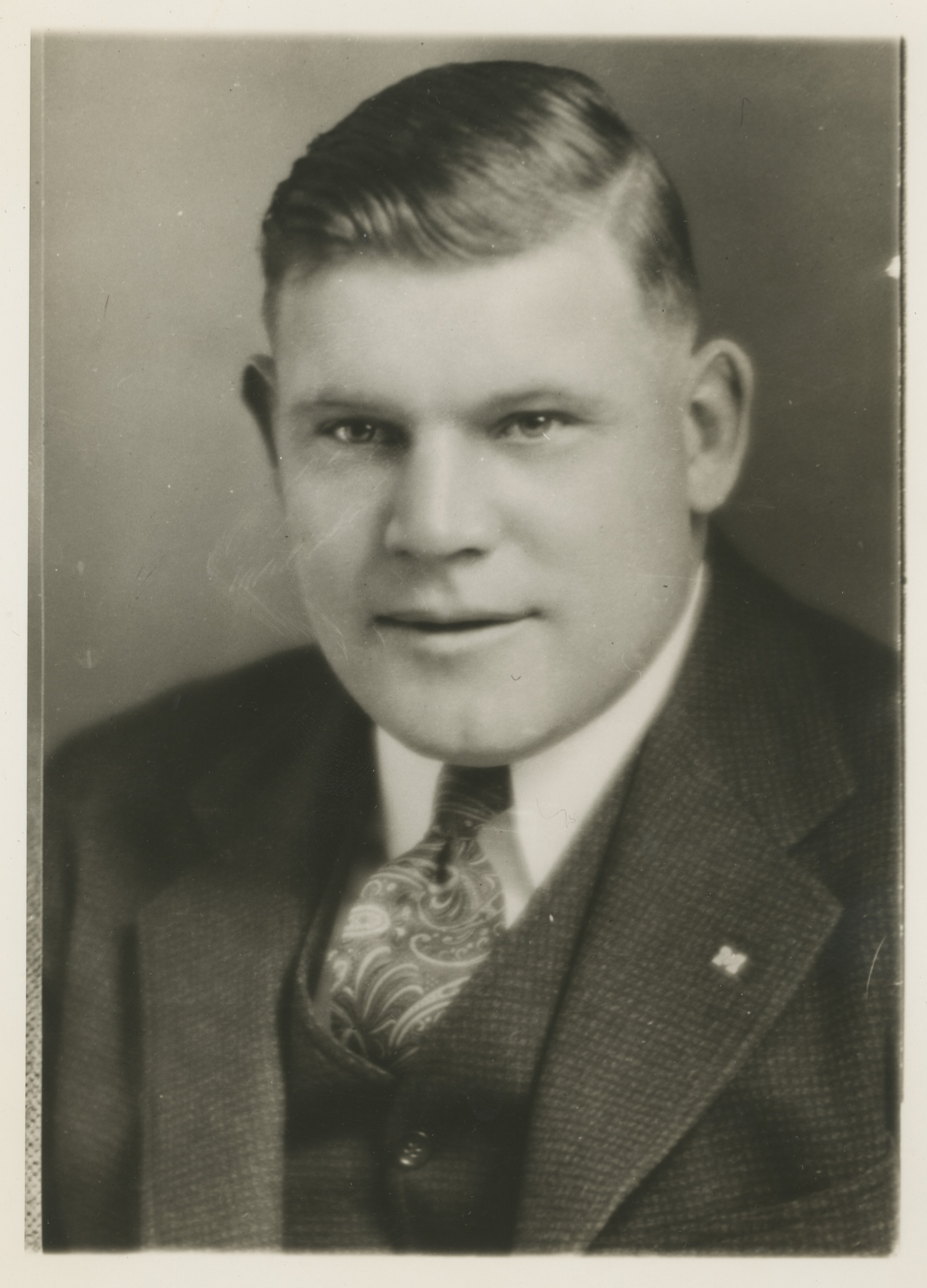 Wally Weber University Of Michigan Freshman Football Coach And Public Speaker 1939