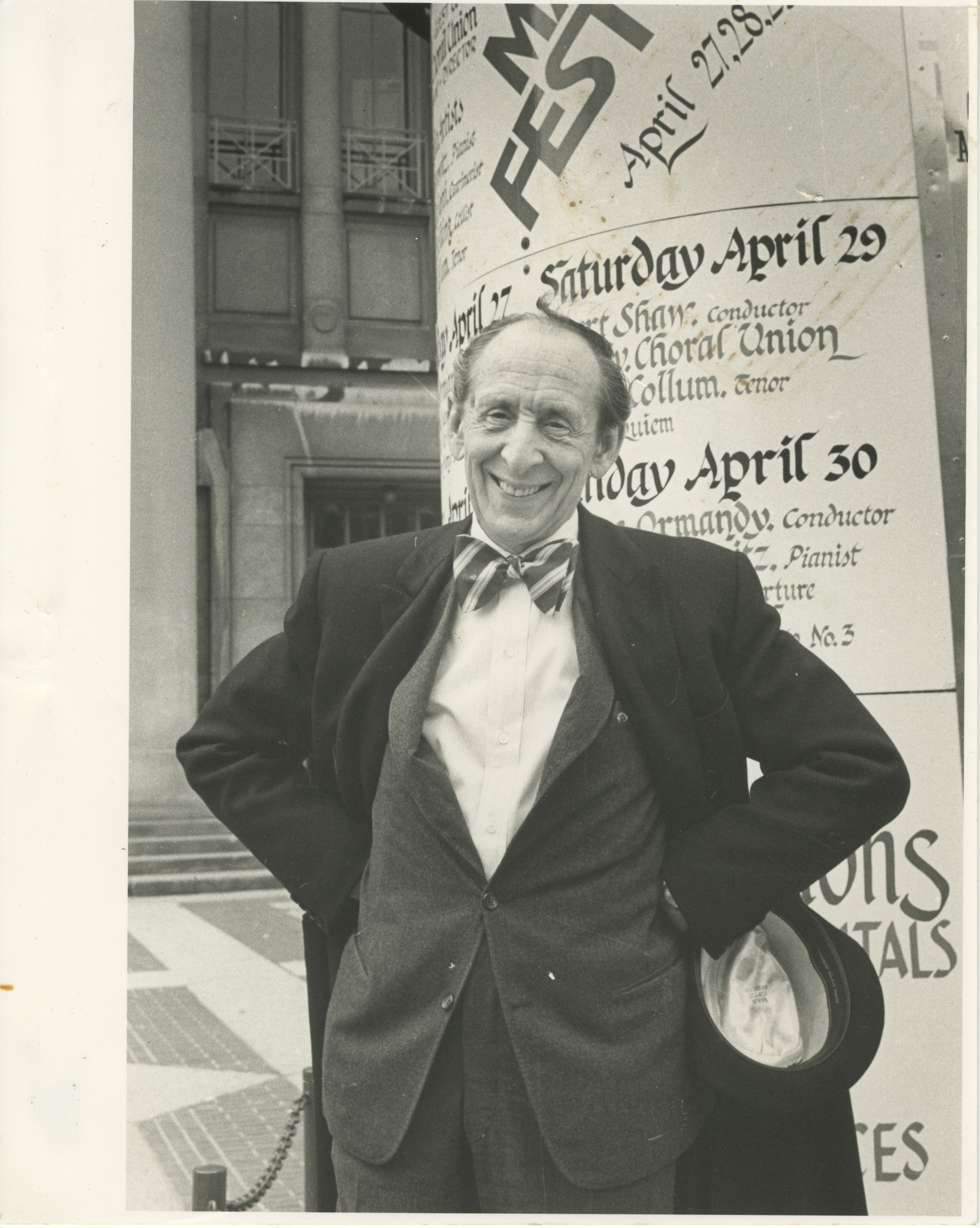 Vladimir Horowitz Outside Hill Auditorium image