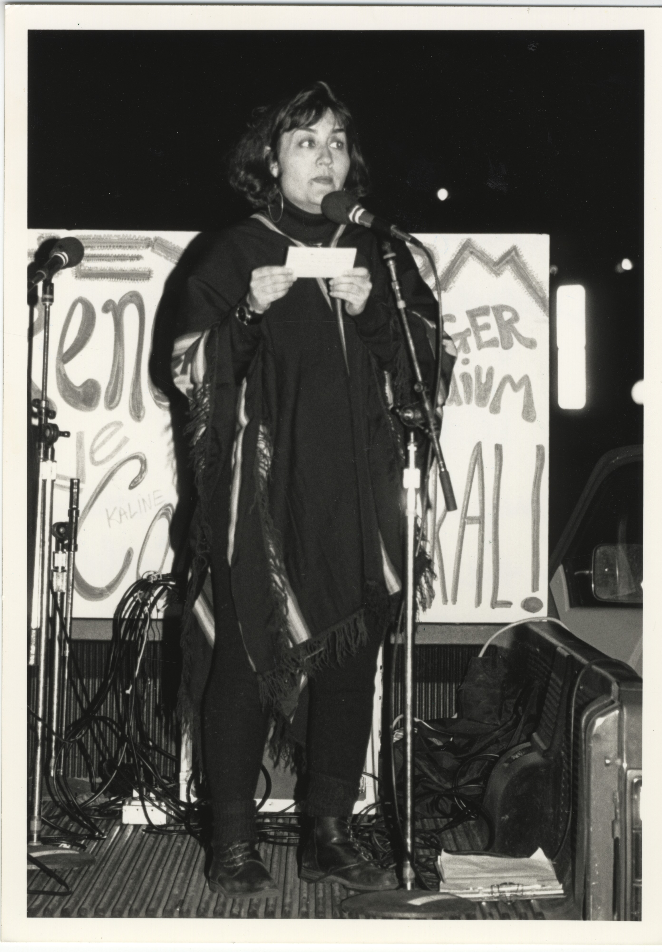 Interfaith Council for Peace and Justice: Leticia Diaz Speaks at ICPJ Protest, 1991 image