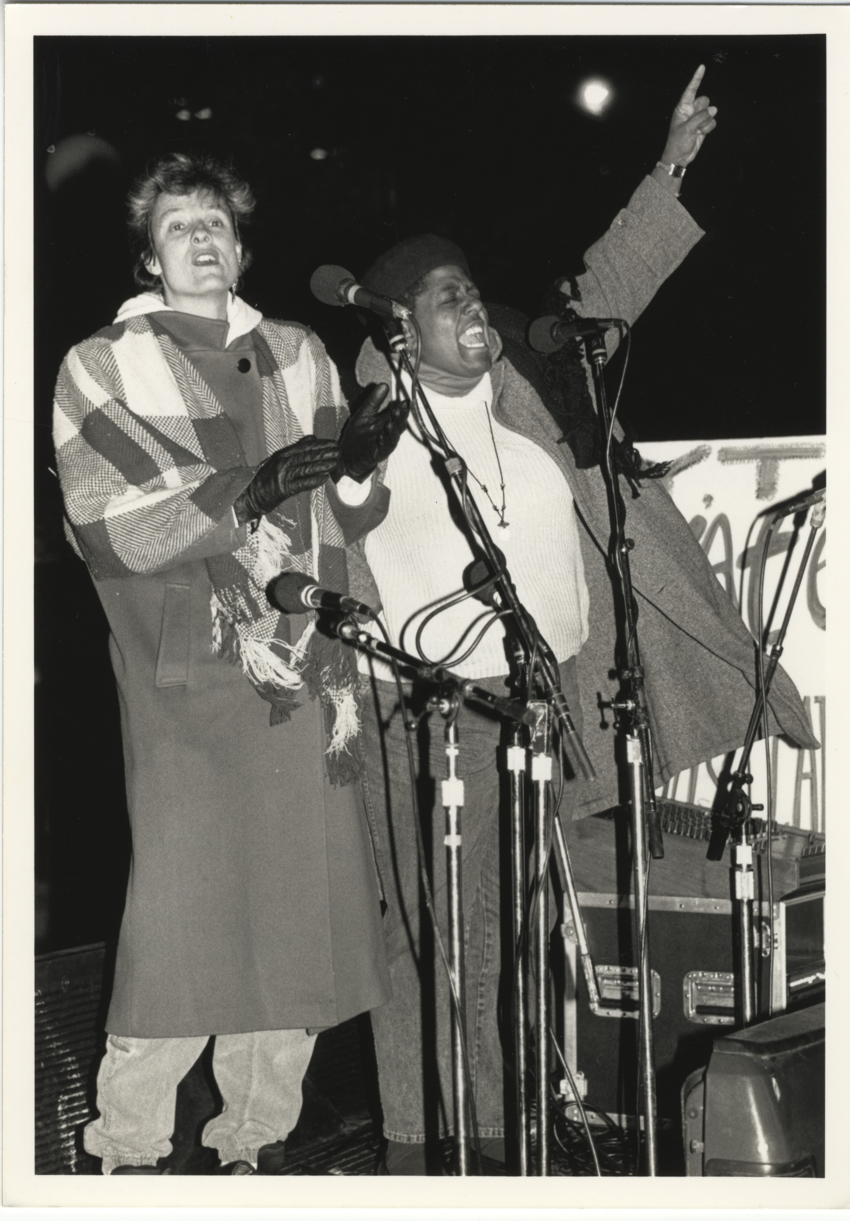 Interfaith Council for Peace and Justice: Yarrow Halstead and Elise Bryant Read Poem, 1991 image
