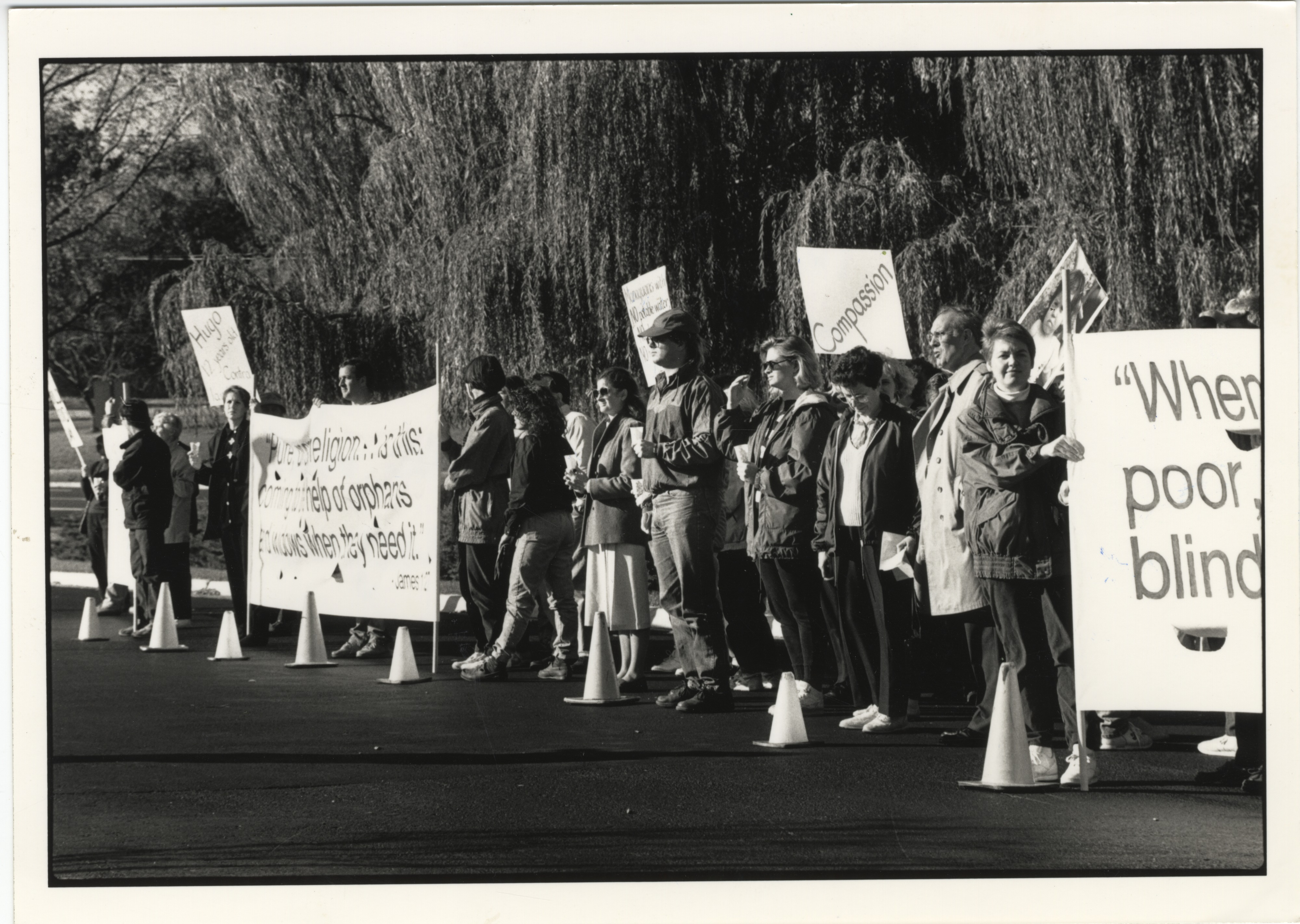 Interfaith Council for Peace and Justice: Silent Vigil Outside St. Francis of Assisi Church, 1991 image