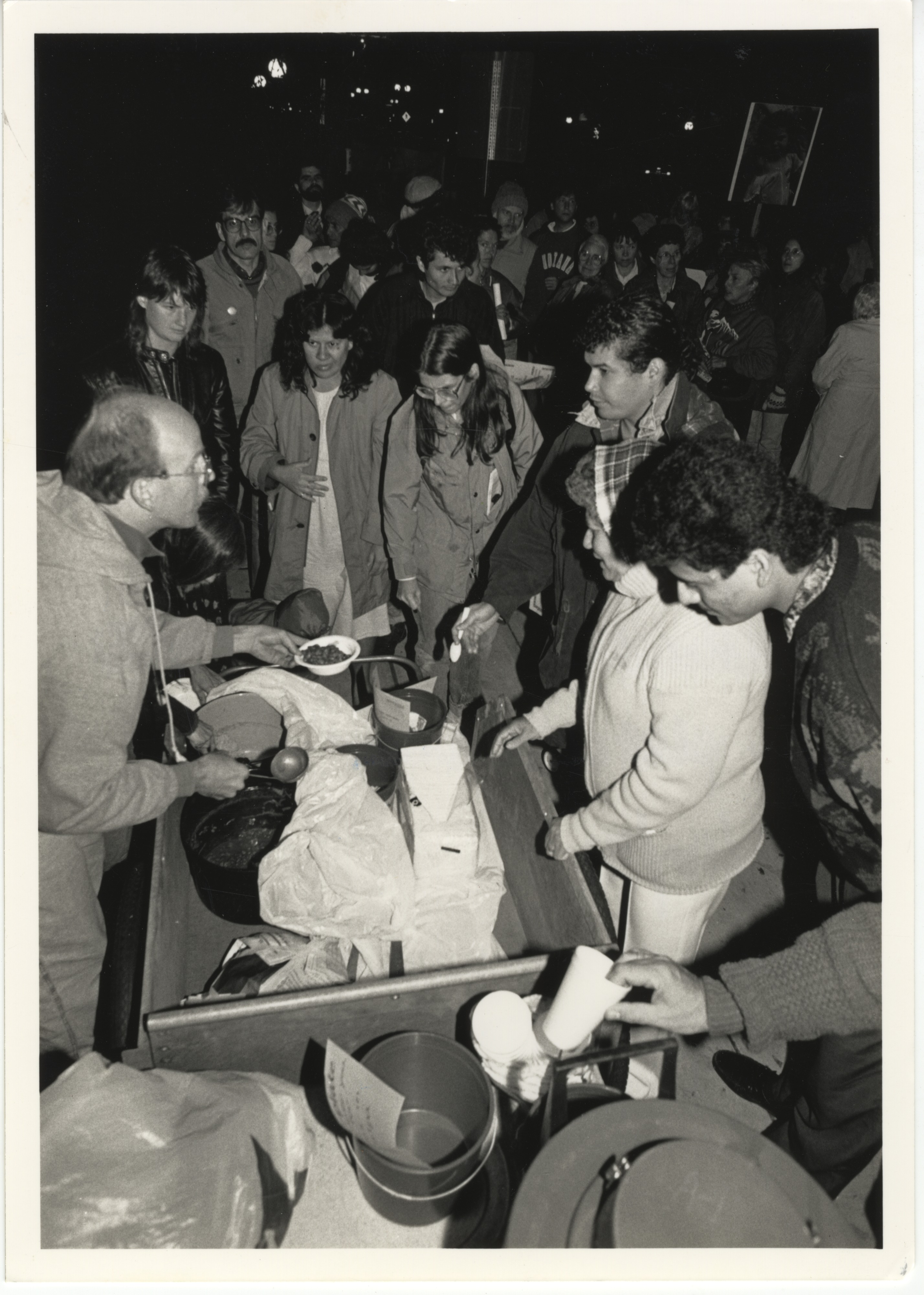 Interfaith Council for Peace and Justice: Kevin Curran Serves Rice & Beans, 1991 image