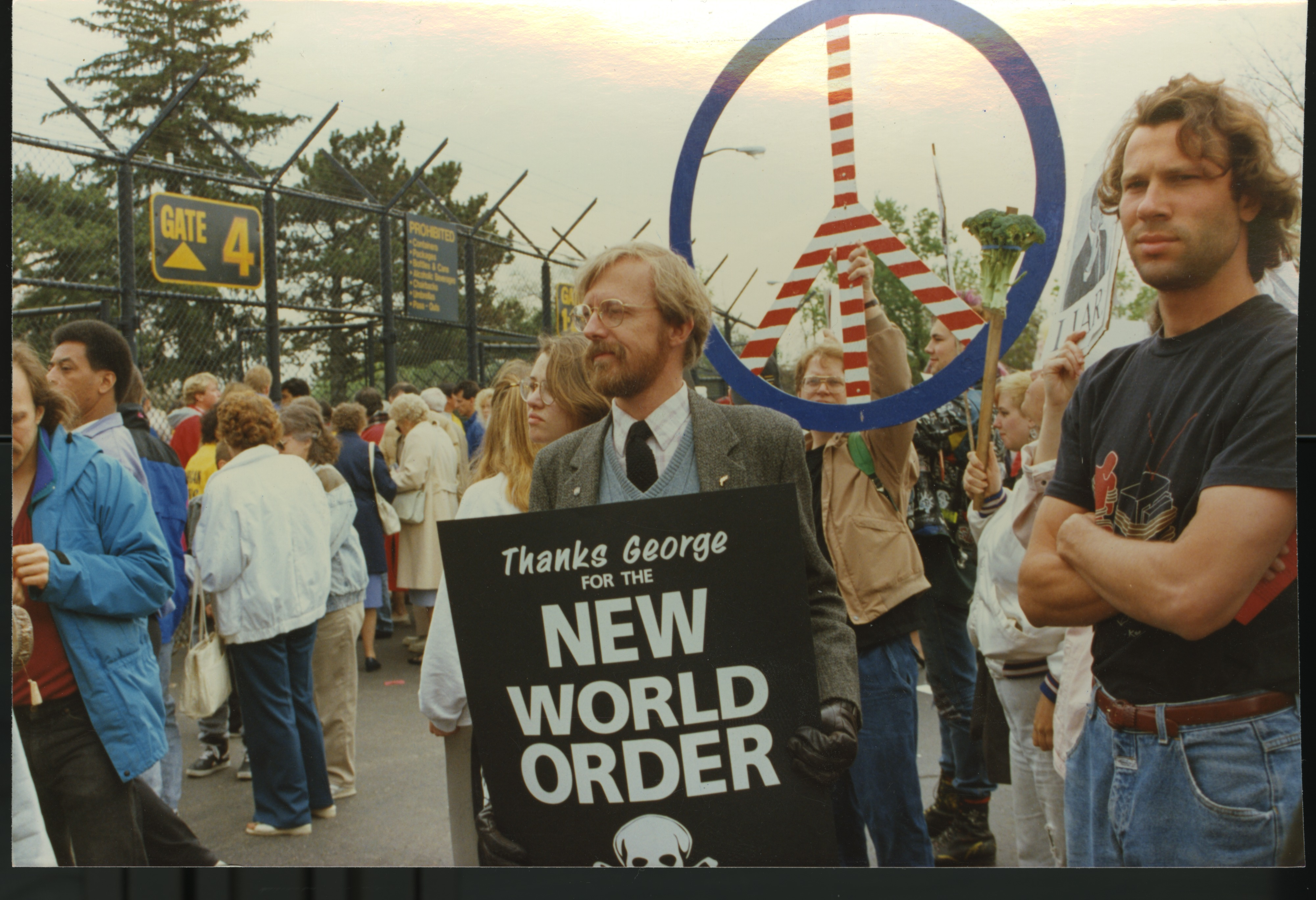 Interfaith Council for Peace and Justice: Protest of George Bush's Commencement Speech, 1991 image