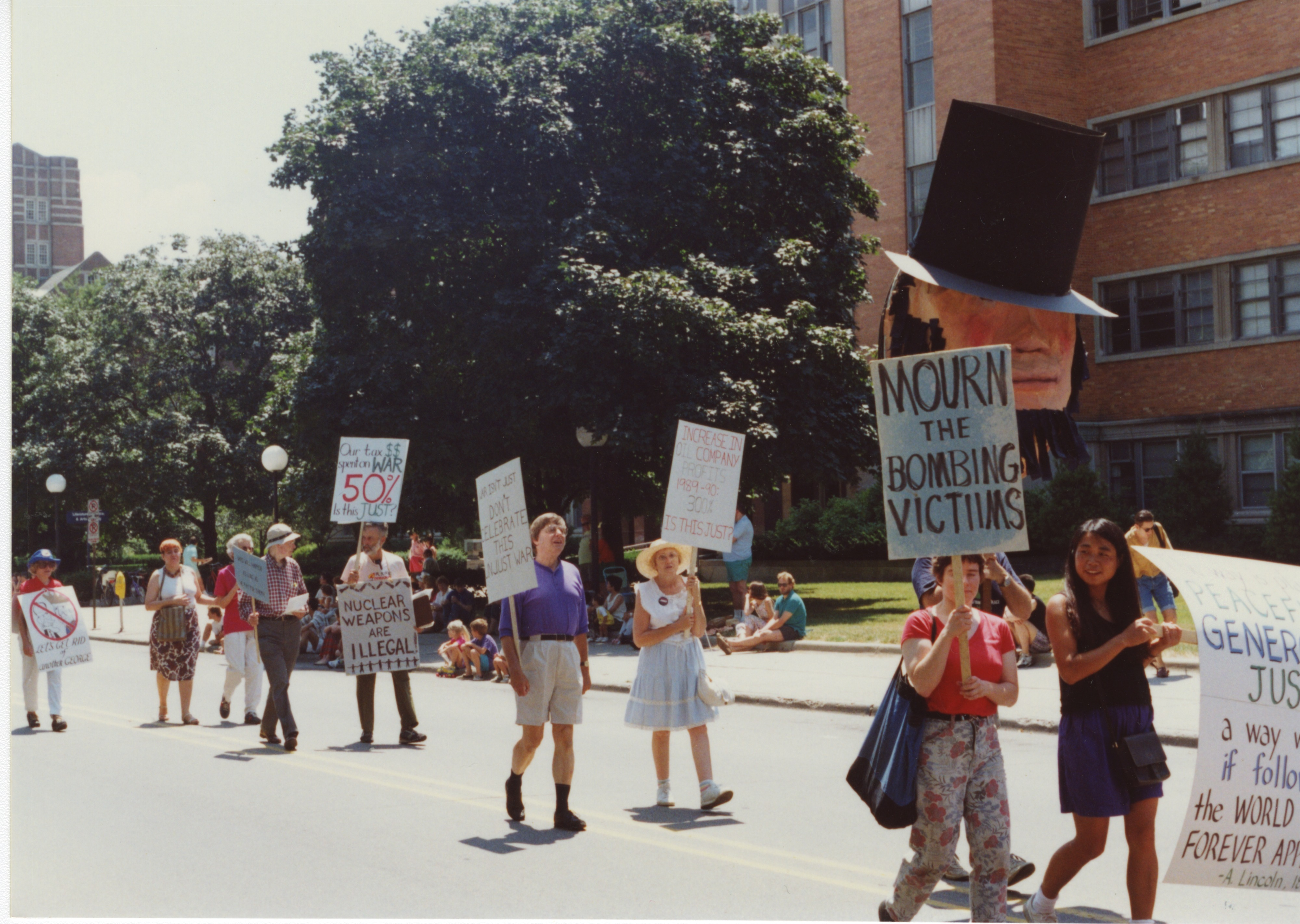 Interfaith Council for Peace and Justice: July 4th Parade, 1991 image