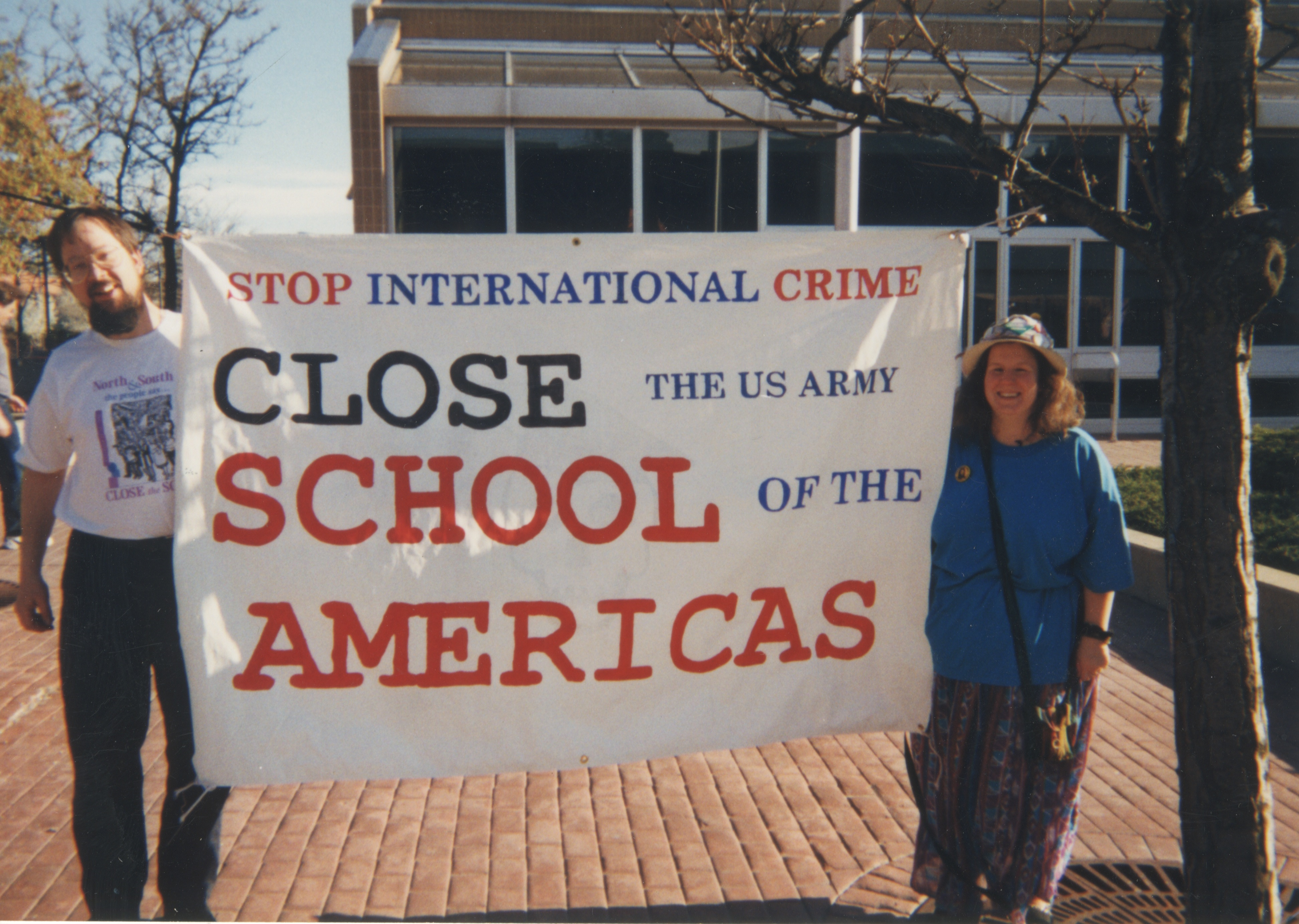 Interfaith Council for Peace and Justice: Protest Against the School of the Americas, 1999 image