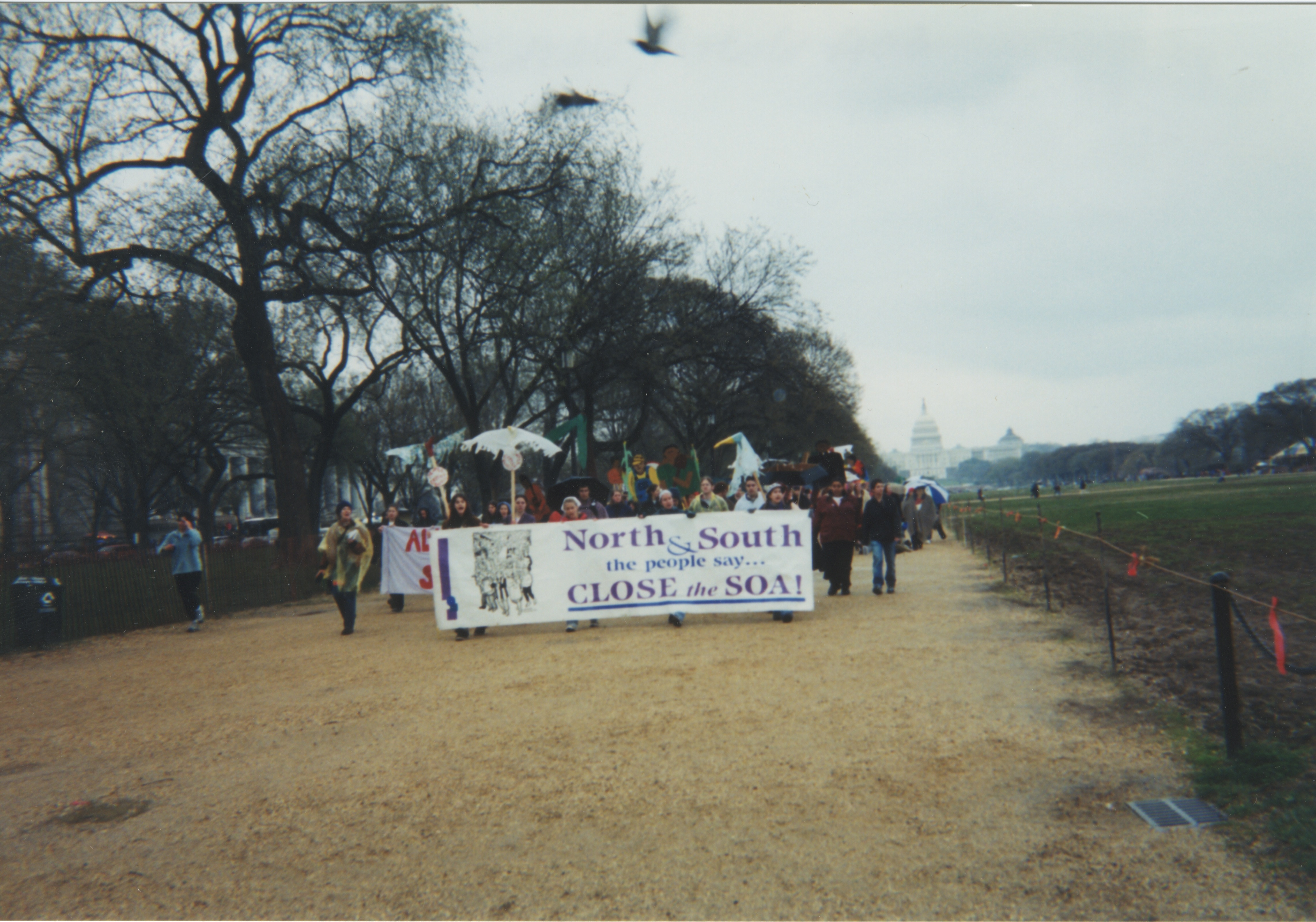 Interfaith Council for Peace and Justice: Marching at SOAW Demonstration in Washington, D.C., 2001 image