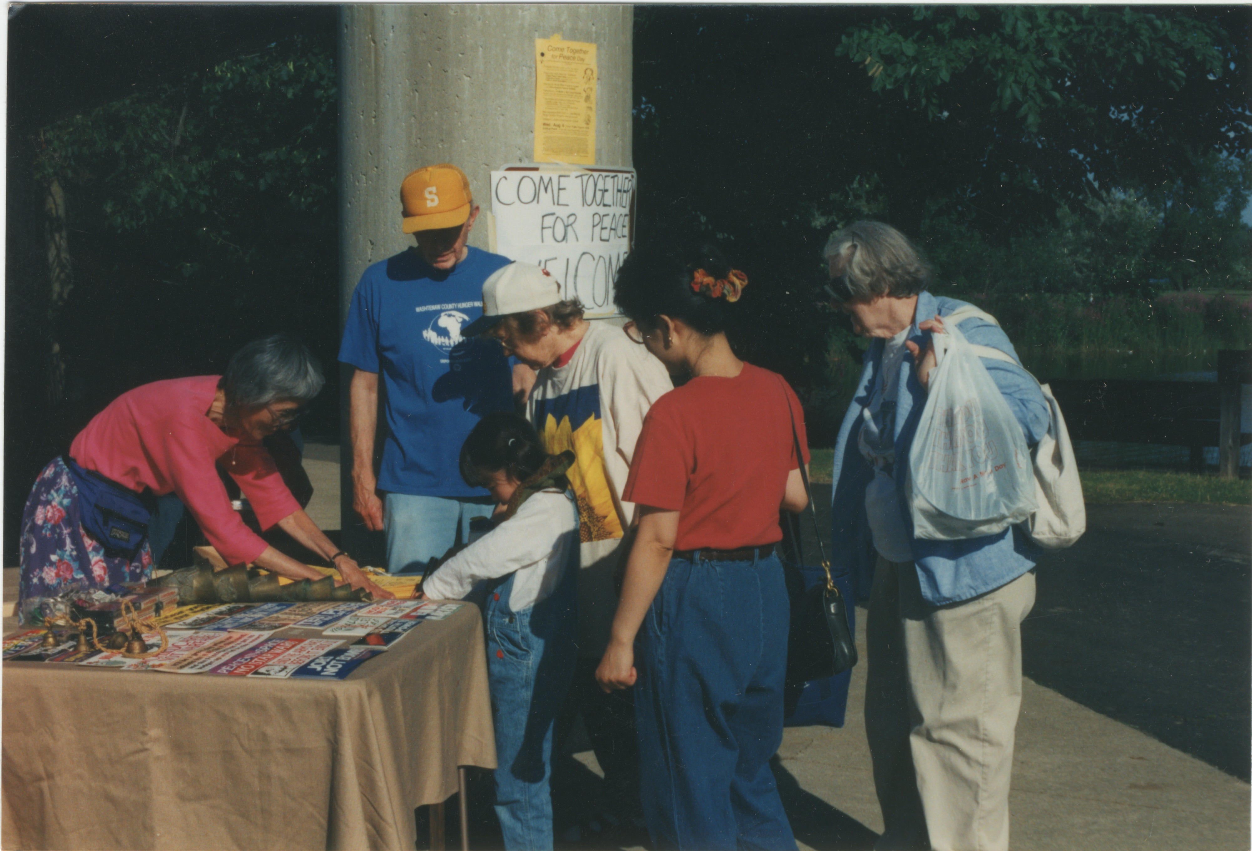 Interfaith Council for Peace and Justice: At the Summer Picnic, 1997 image