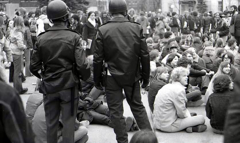 Hash Bash Crowd With Police, 1977 image