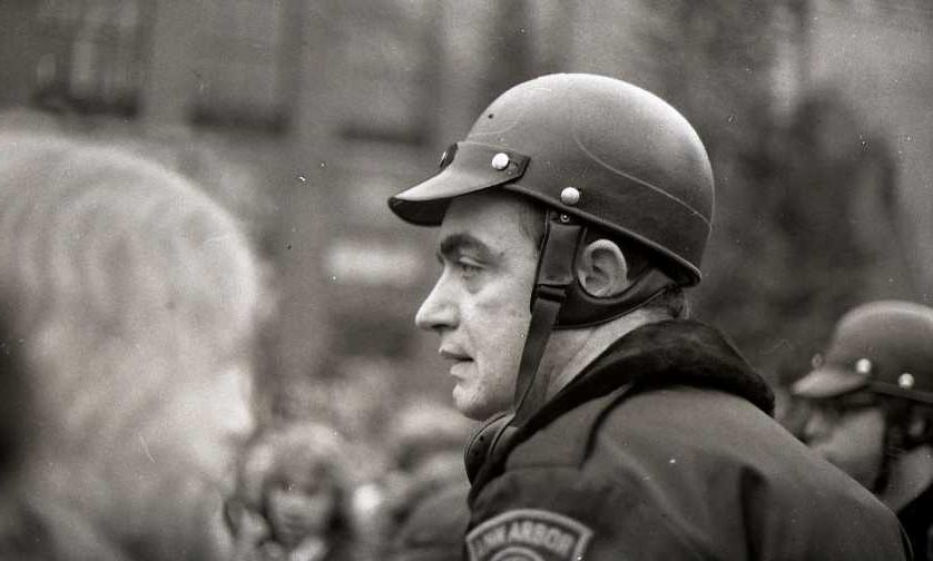 Walter Lunsford, Ann Arbor Police Department, At Hash Bash, April 1977 image