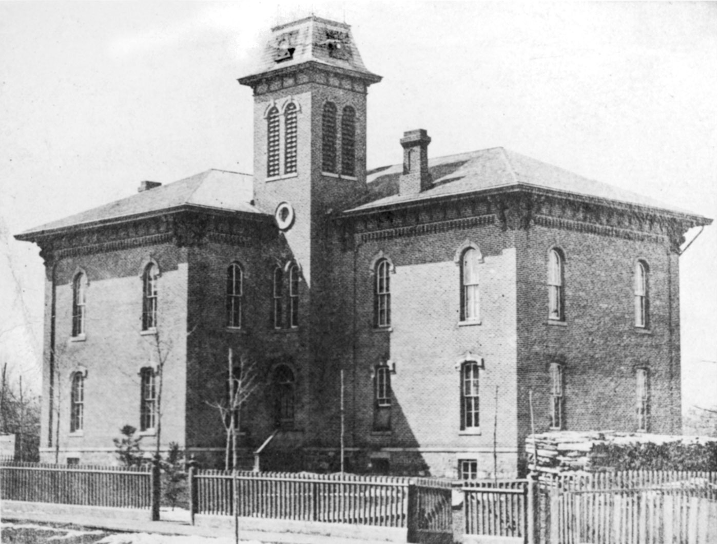 The Fourth Ward school, 1867 image