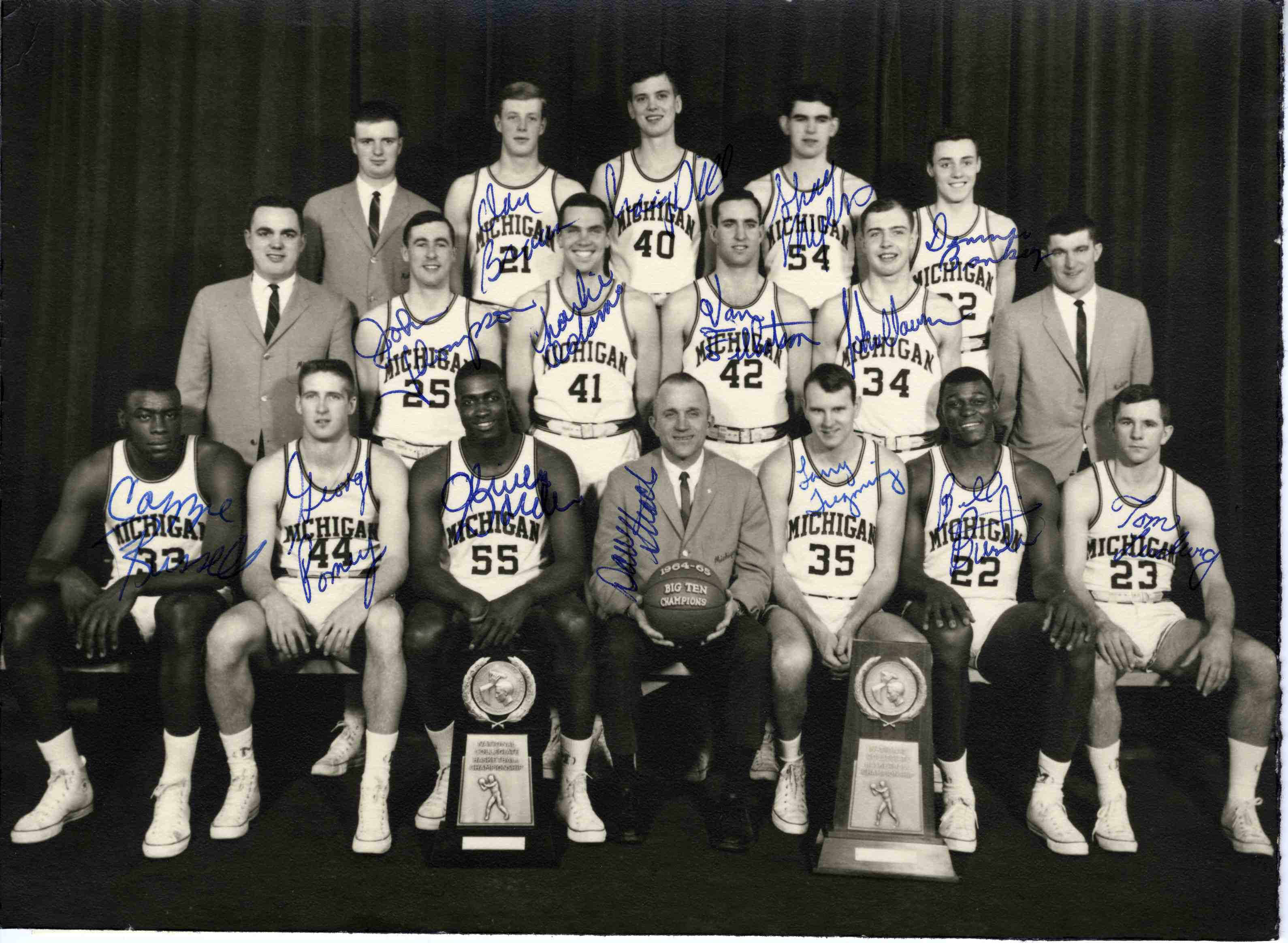 U-M Big Ten Champions, 1964-1965 | Ann Arbor District Library