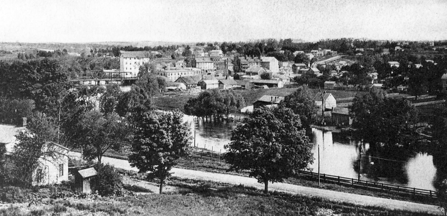 View of lower town from accross the river, ca 1900 image