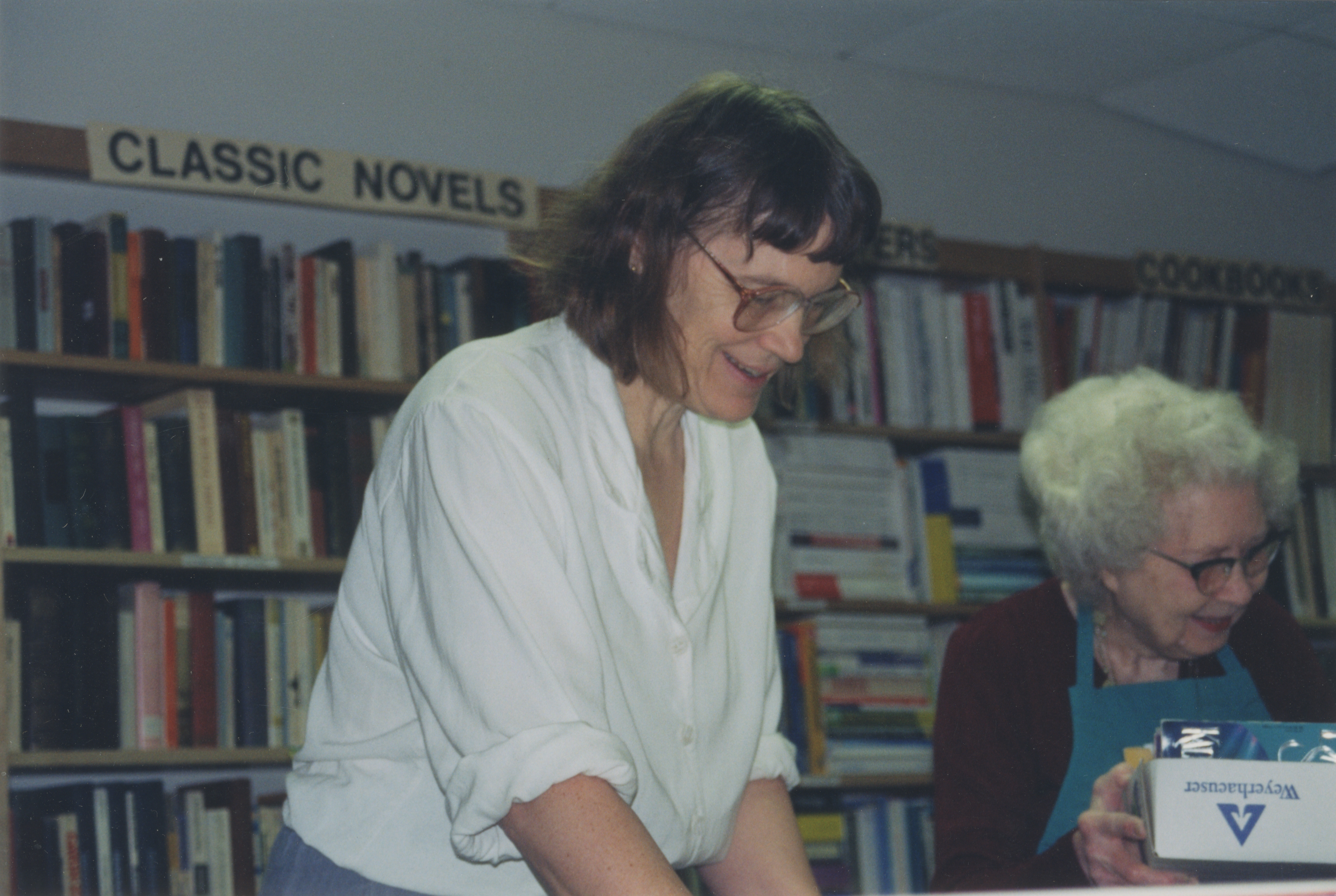 Book Shop Director Mary Parsons in the Friends Book Shop, circa 1997 image