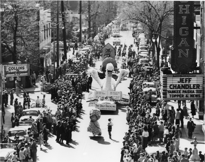 Michigras Parade, 1954 image