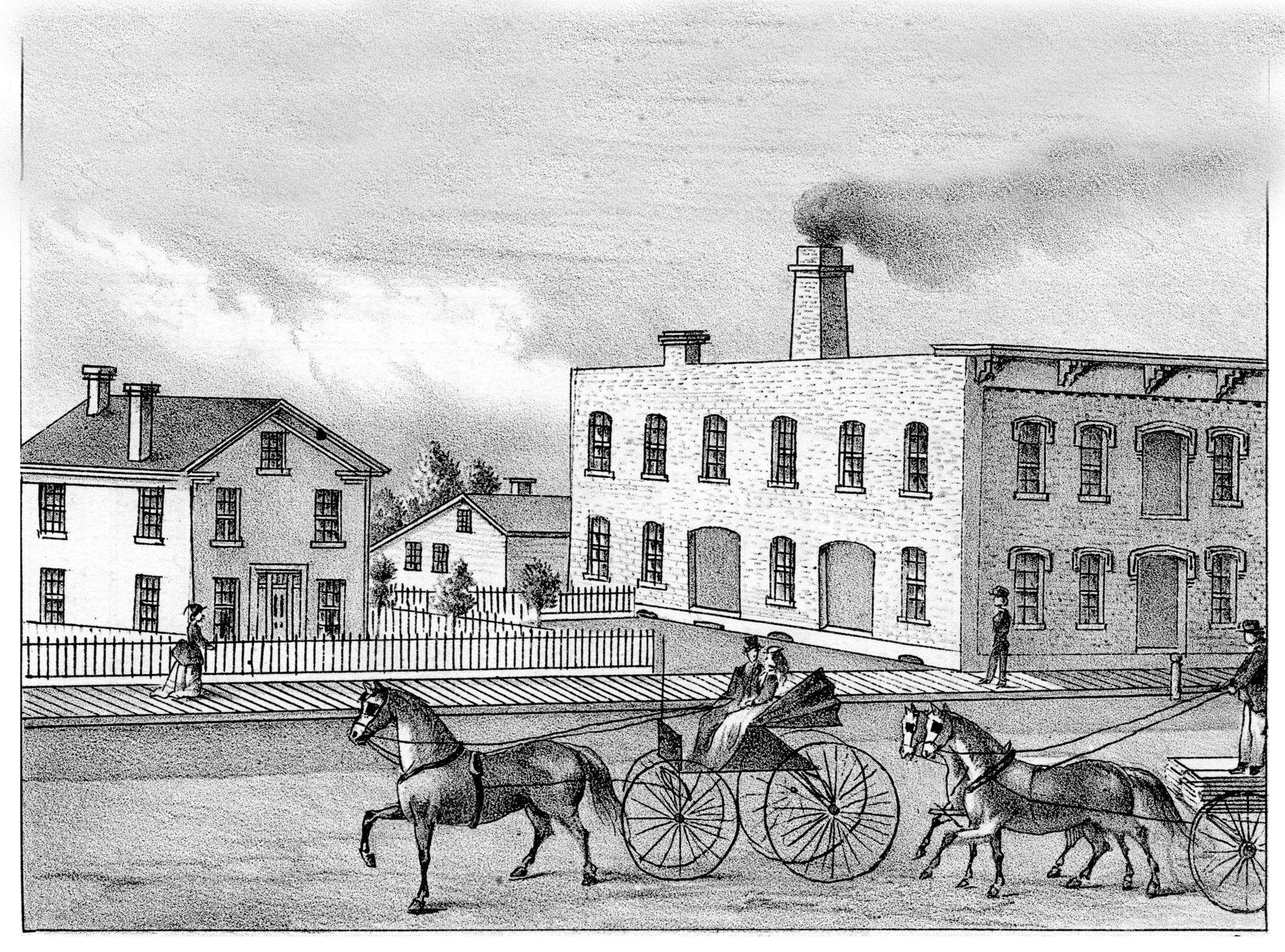 Miller's Planing Mill, 529 Detroit Street, 1874 (later the Treasure Mart) image