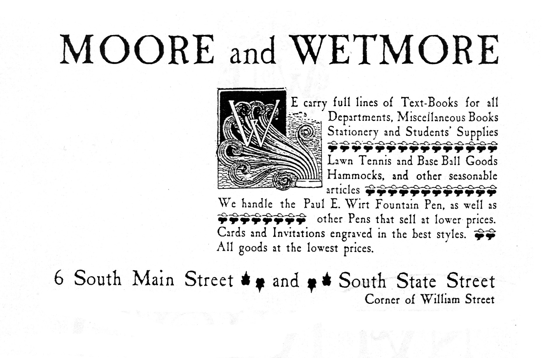 Moore and Wetmore, 1890 image