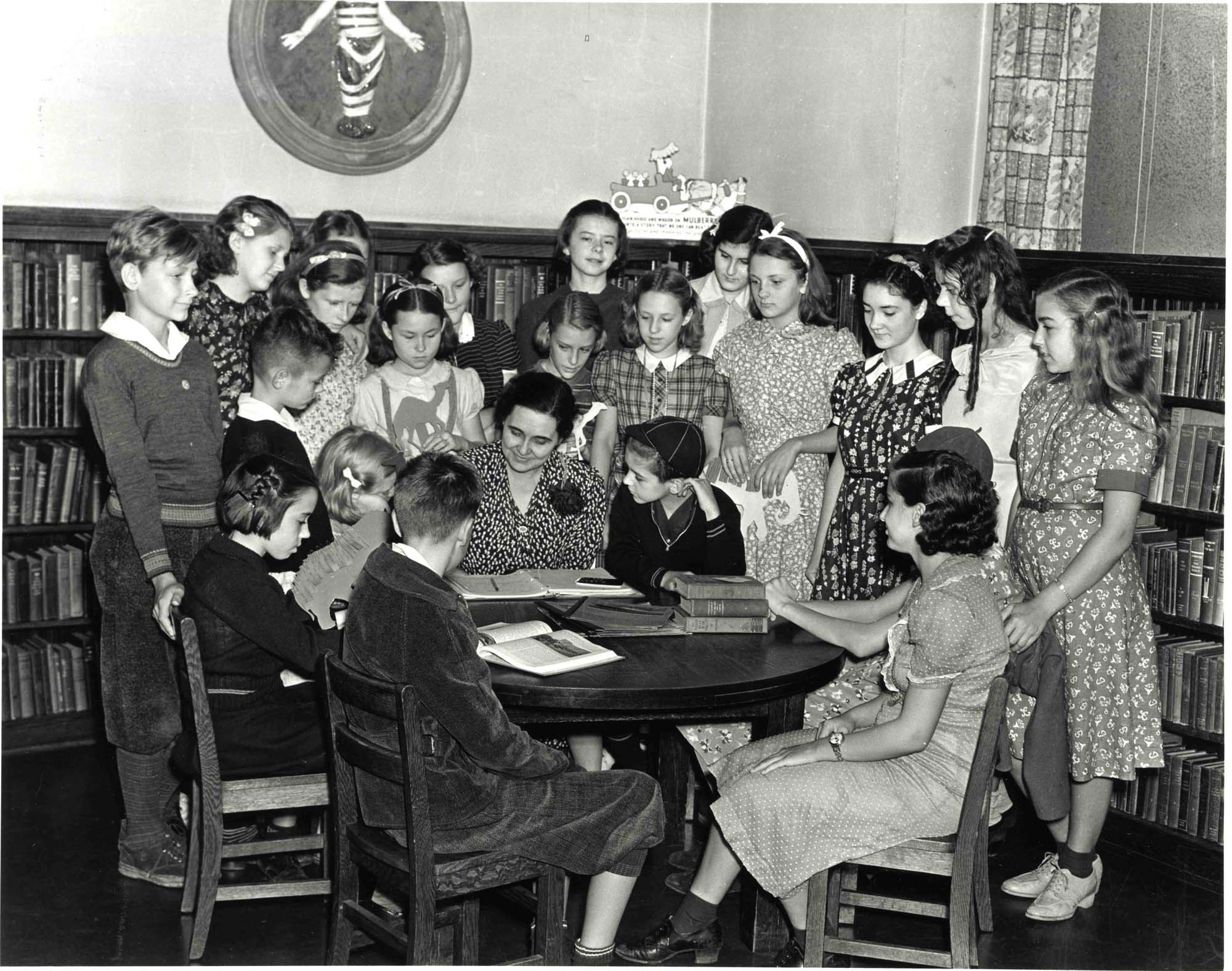 Storytime at the Carnegie Library, 1938 image