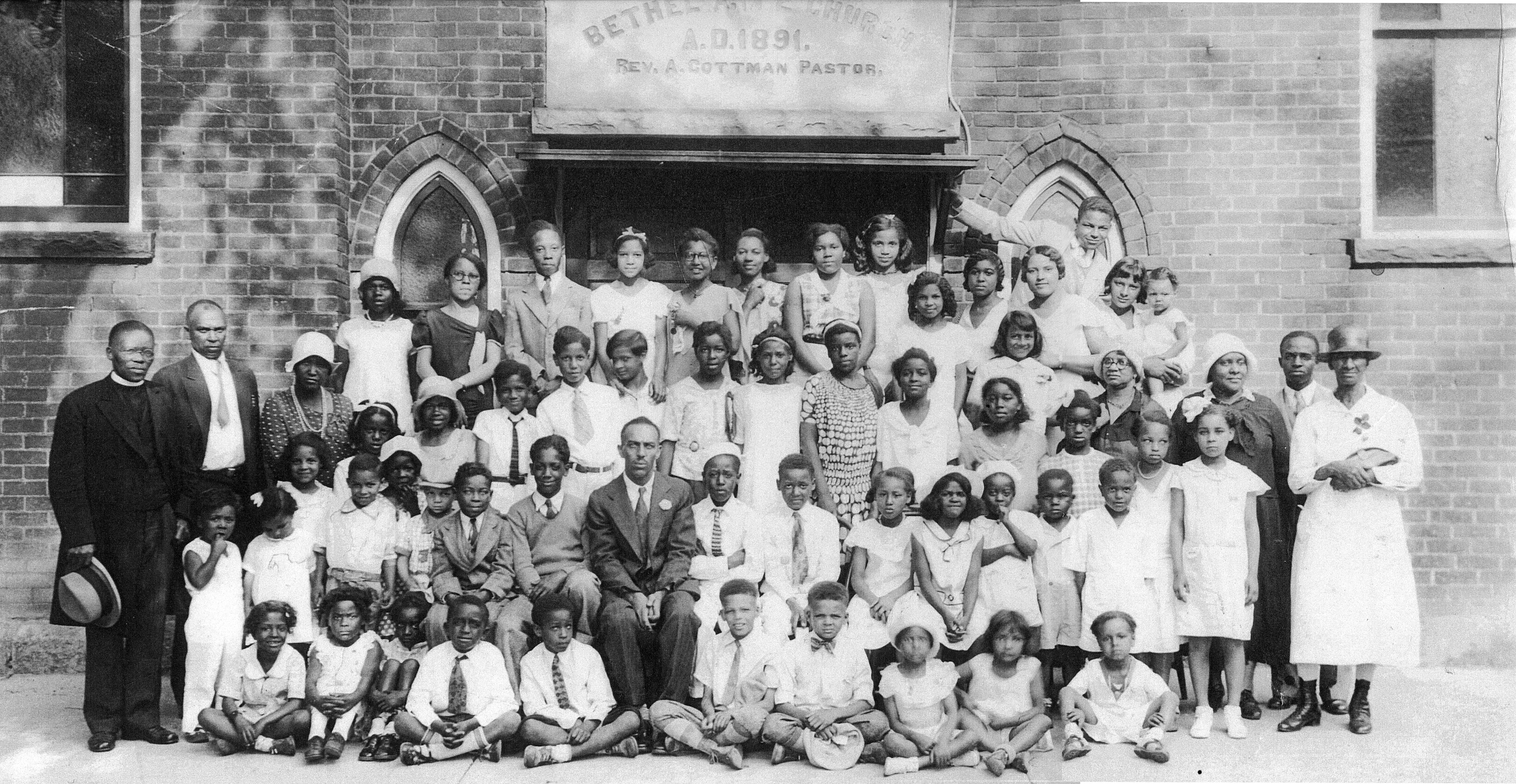 Sunday School at Bethel A.M.E., ca. 1930 image