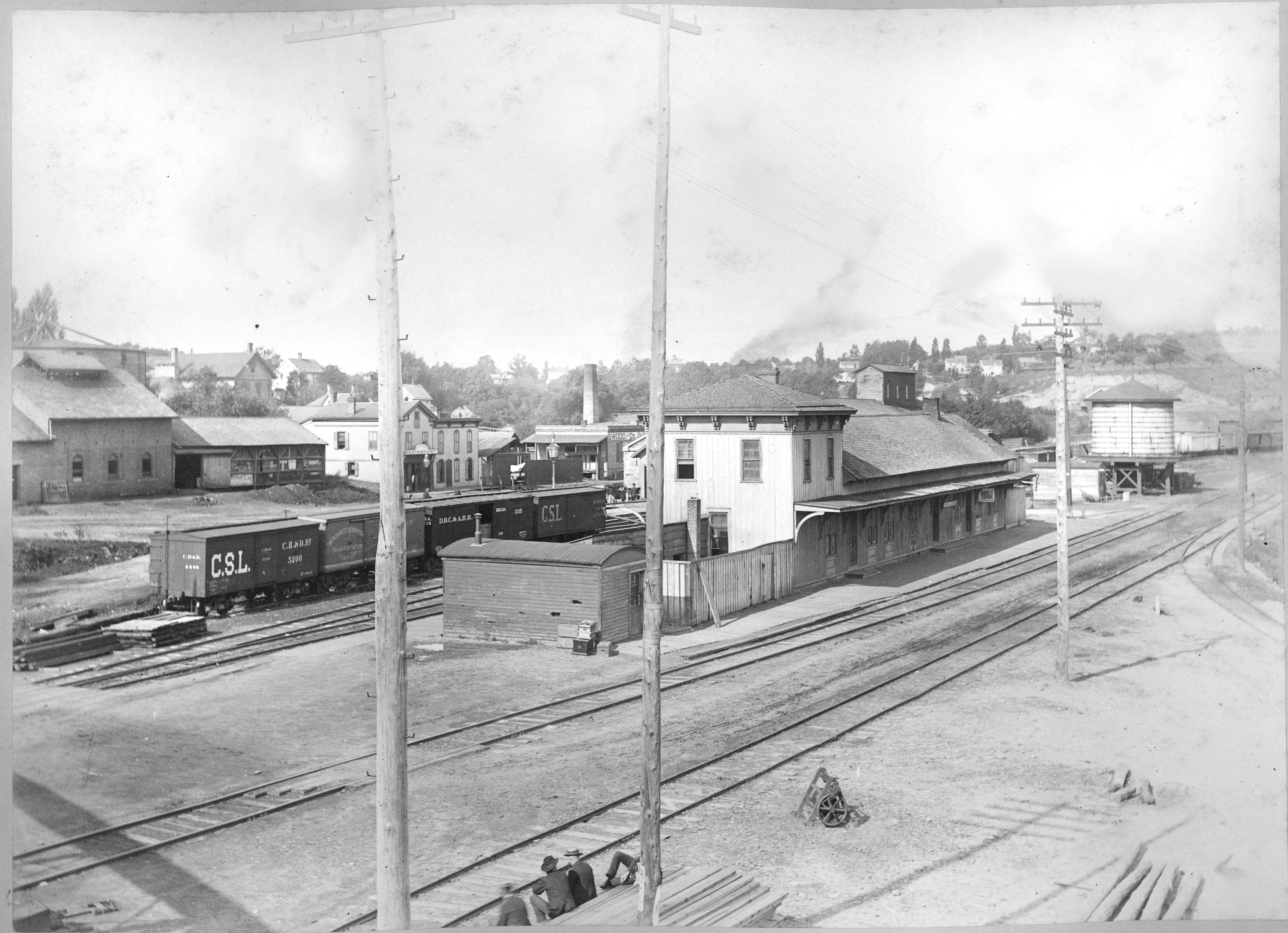 Michigan Central Railroad Depot, 1886 image