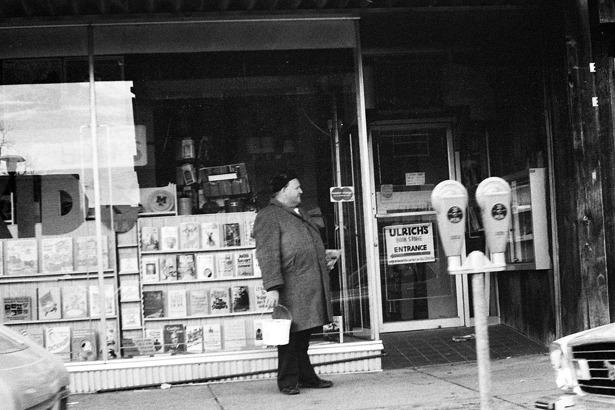 Customer Standing Outside Ulrich's Bookstore, Circa 1976 image