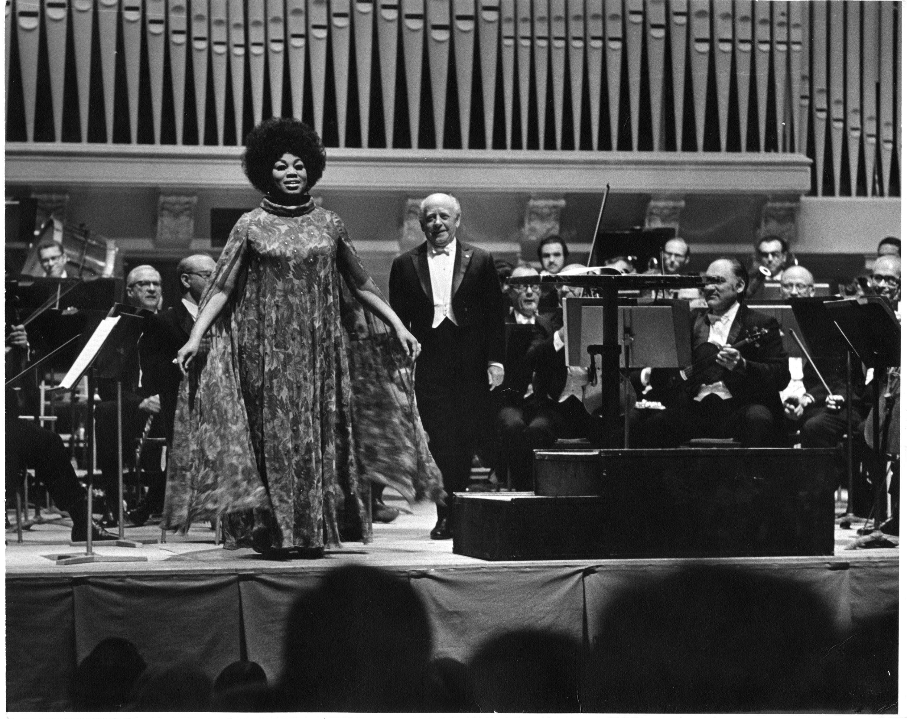 Leontyne Price, soprano; Eugene Ormandy, conductor; The Philadelphia Orchestra in Hill Auditorium; Opening Night May Festival, April 29, 1971 image