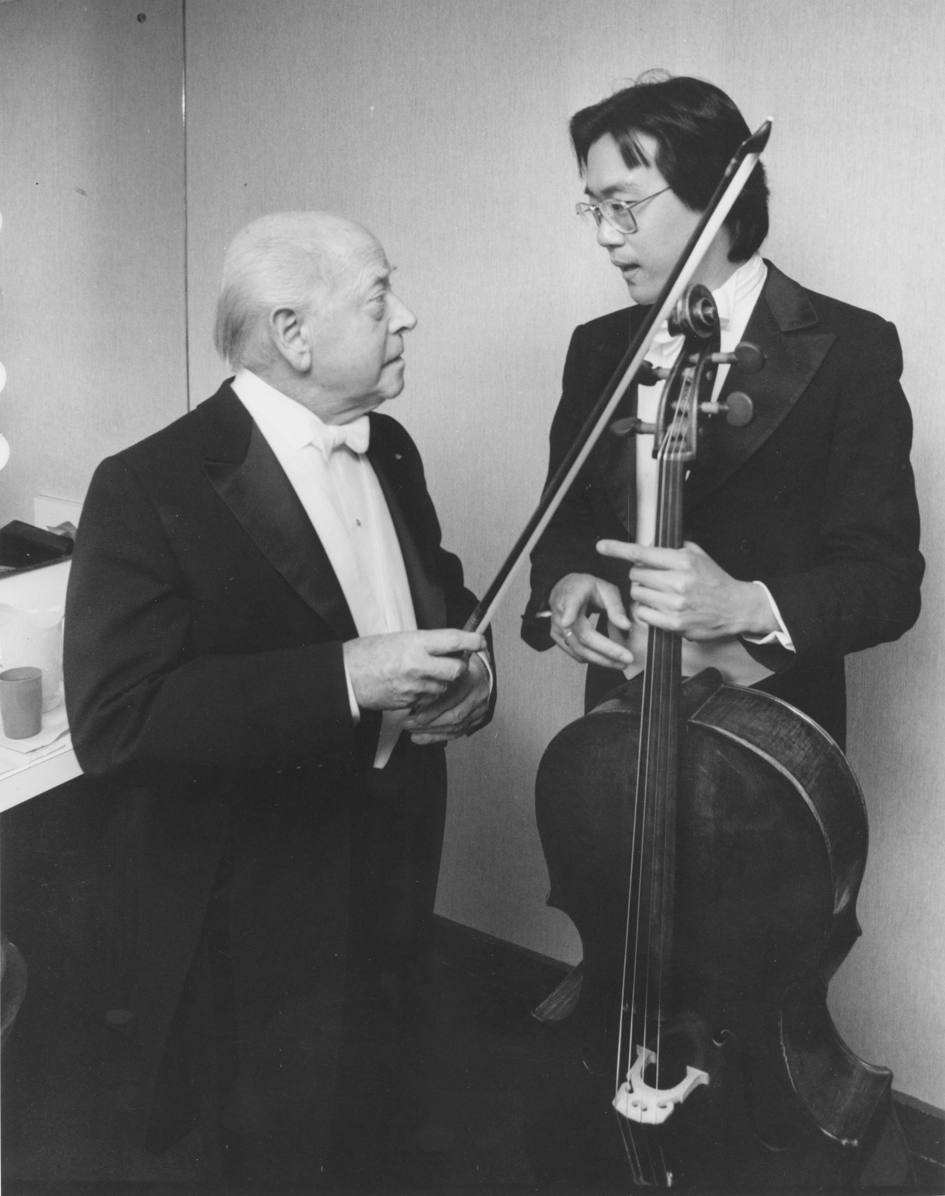 Eugene Ormandy and Yo-Yo Ma, May Festival 1982 | Ann Arbor District