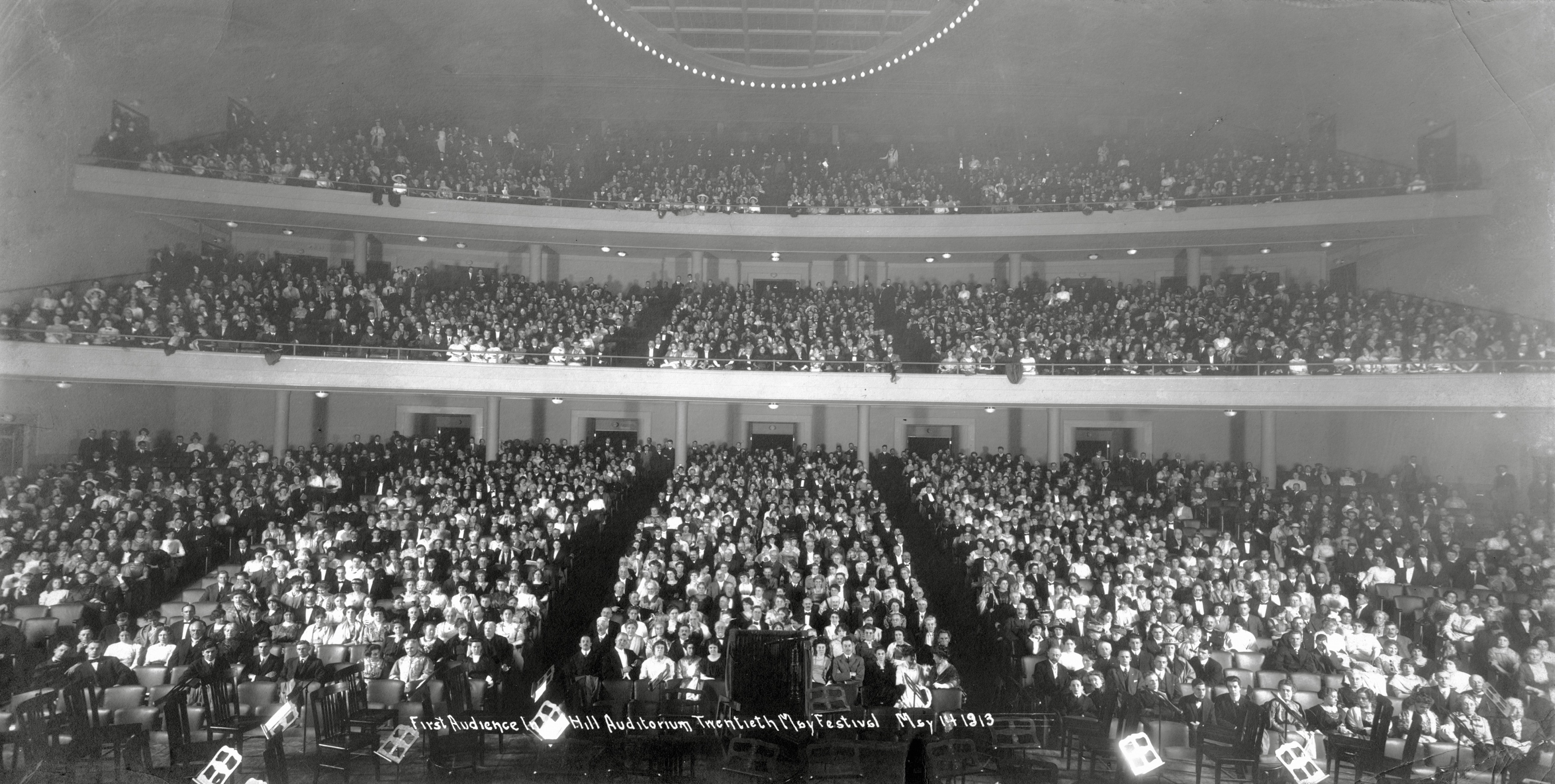 Hill Auditorium's first audience, May 14, 1913 image