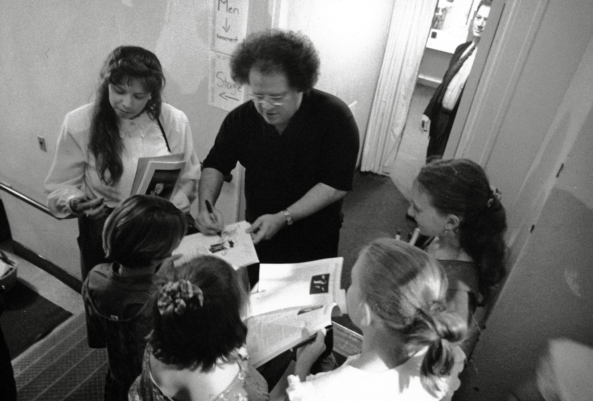James Levine signs autographs after the 100th May Festival, 1993 image