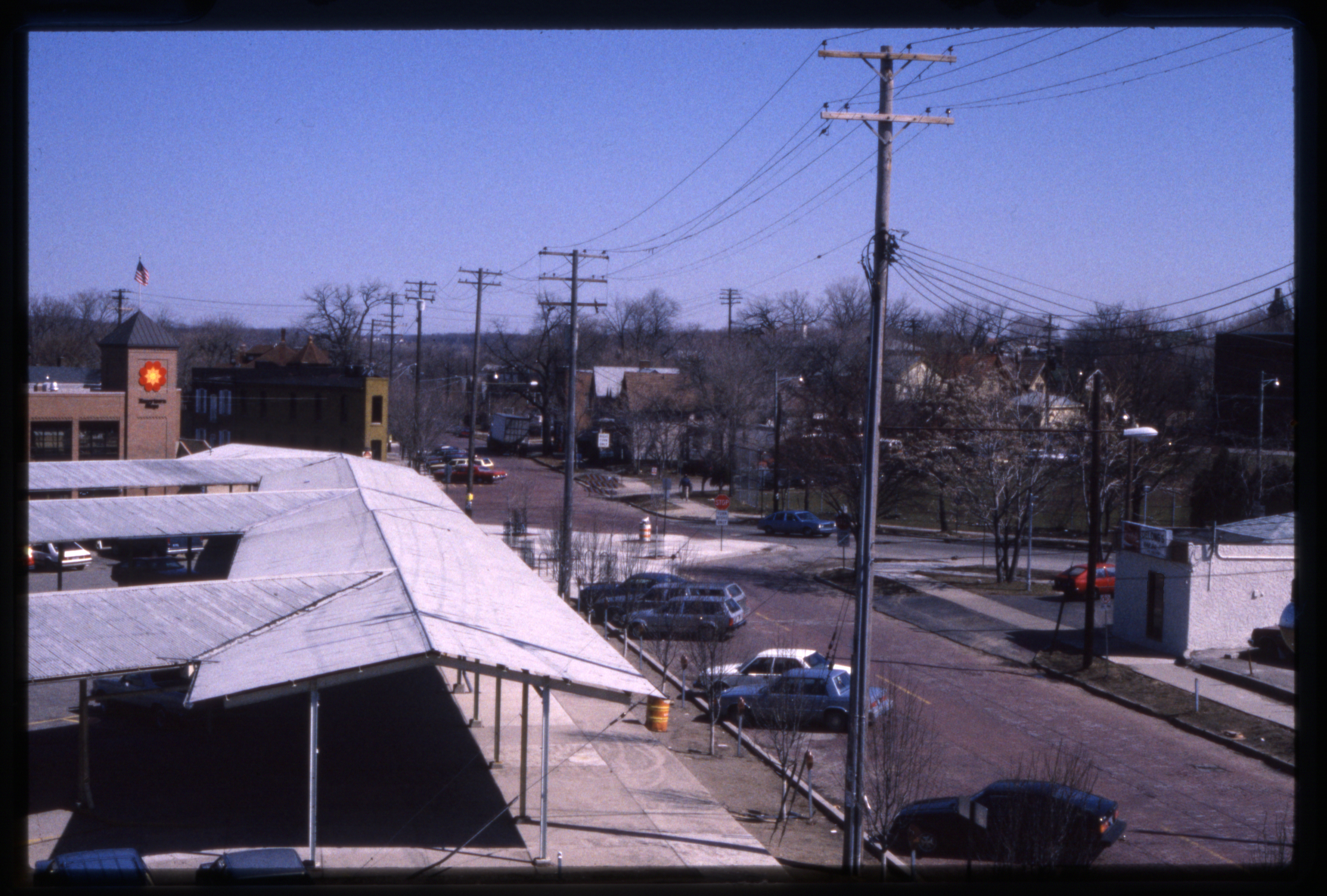Looking northeast up Detroit St, 1985 image